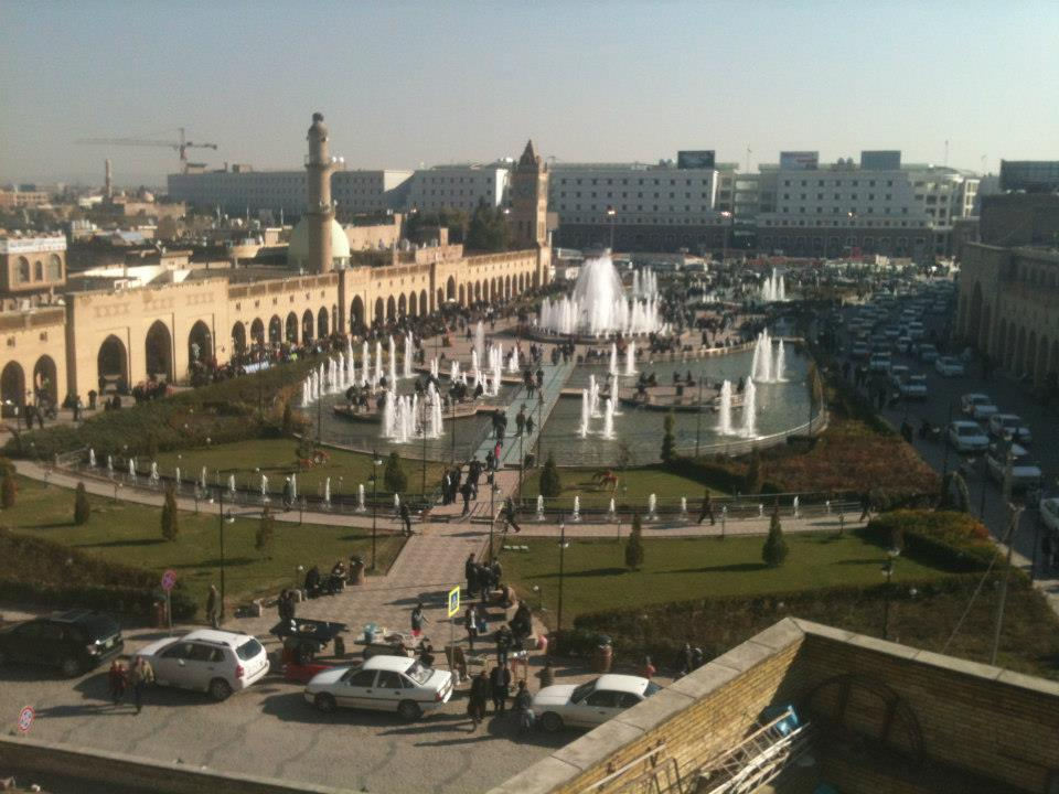 "City Center, Erbil - picture taken by ""Doc"" Sloan from the top of the Citadel"
