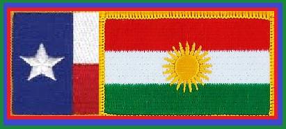 Texas Flag and Kurdistan Flag