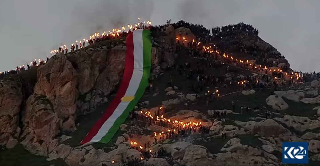 Happy New Year Kurdistan. Its the Kurdish Newroz.