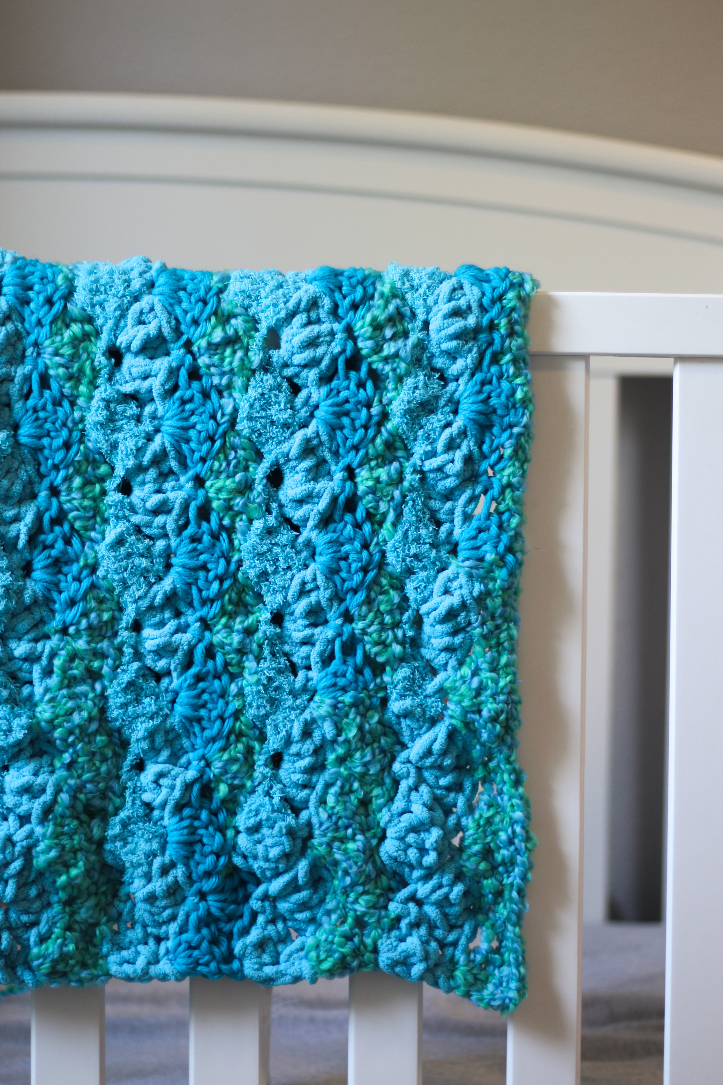 Chunky Shell Stitch Baby Blanket Free Crochet Pattern Hooked On Tilly