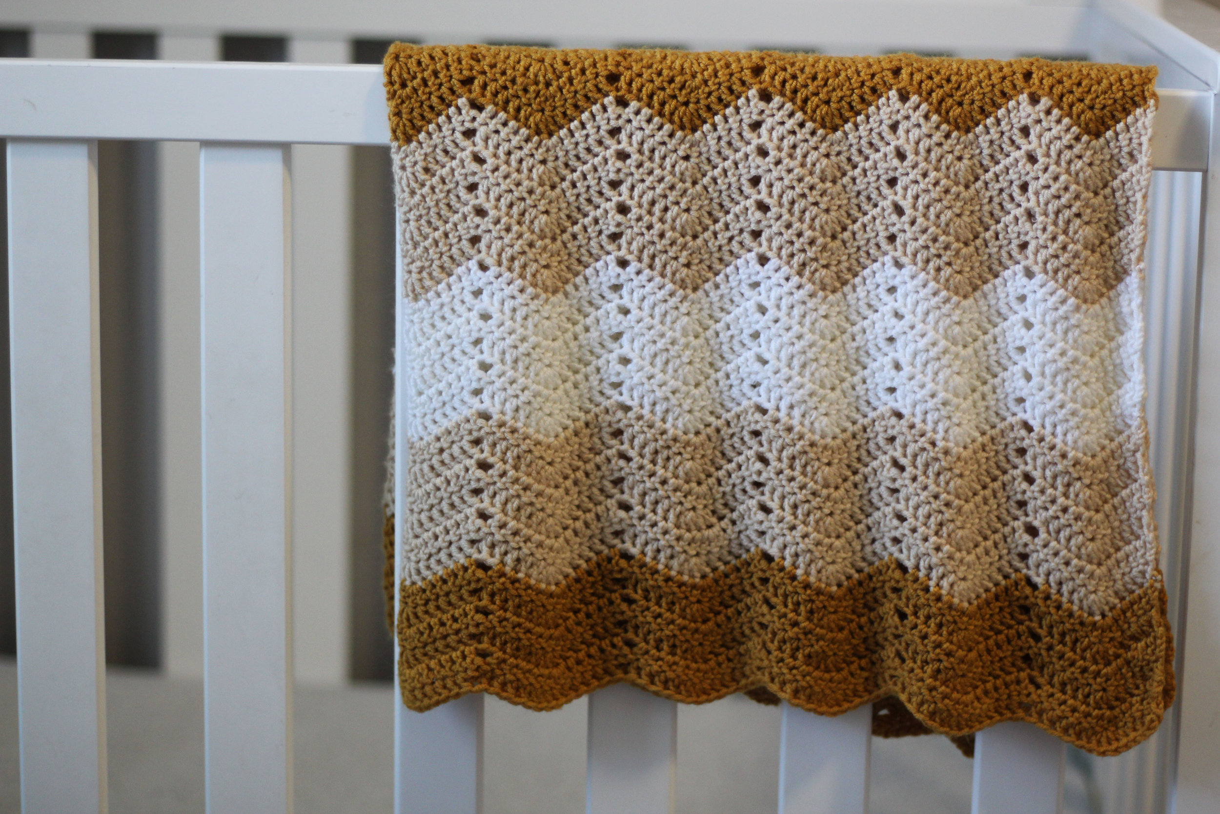 Wave Stitch Baby Blanket Tutorial - Click Here