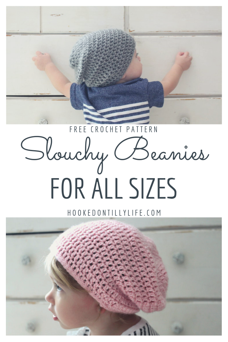 8348a13e5 Slouchy Beanie for All Sizes - Free Crochet Pattern — Hooked On Tilly