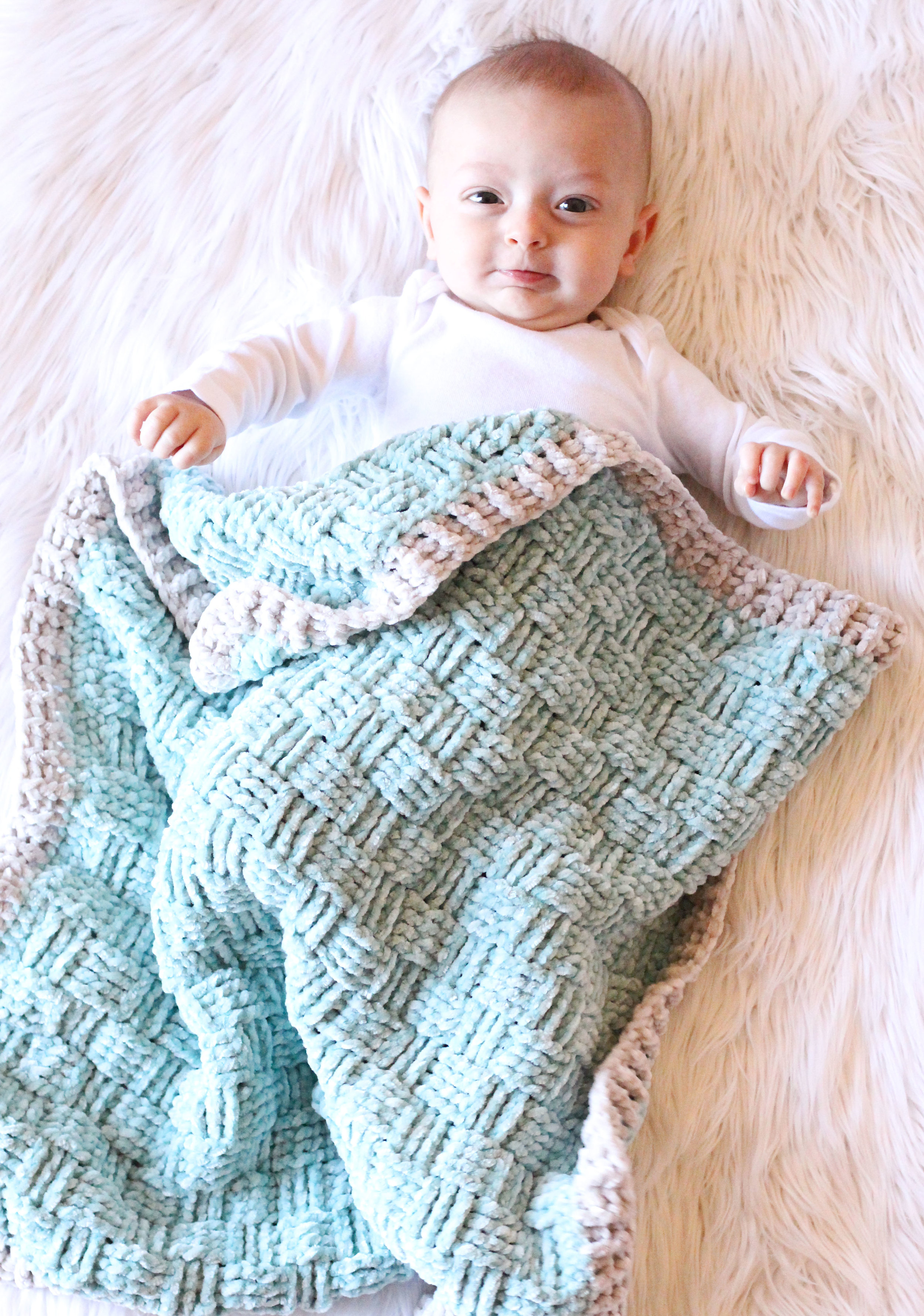 Basketweave Baby Blanket Free Crochet Pattern Hooked On Tilly