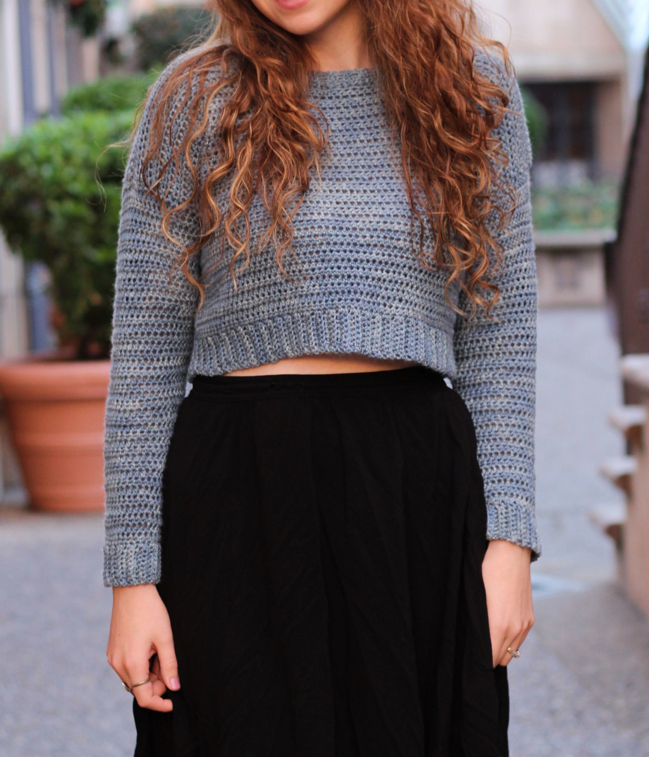The Acacia Cropped Sweater Free Crochet Pattern Hooked On Tilly