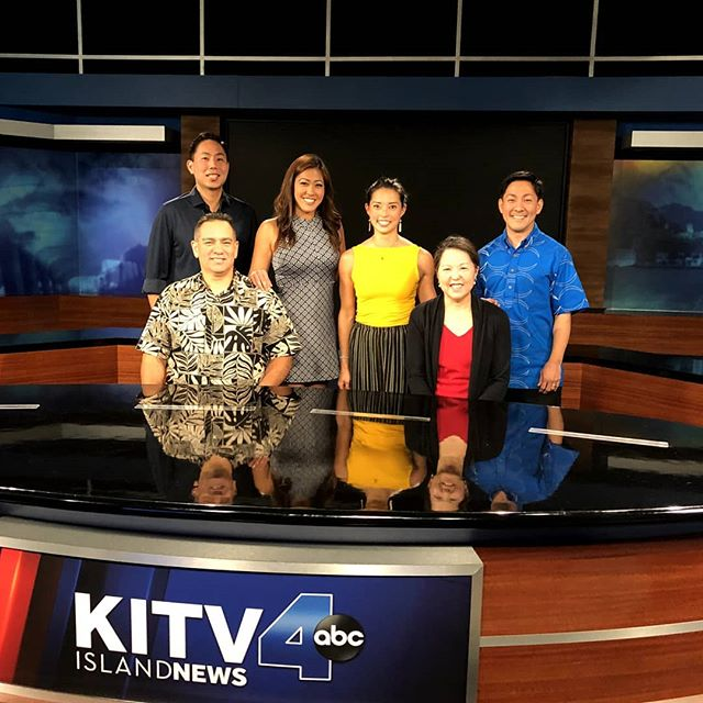 "🌺 Happy Aloha Friday!  We wanted to say a huge ""Mahalo!"" to @bhiga12 for taking the time to interview us about the 2019 Party 4 A Purpose! 🤩  Also, thank you to the representatives of 2019's beneficiaries for speaking about your organizations: K-PAL's Captain Mark Ozaki; and HHOC's Executive Director, Reina Miyamoto 💫  Lastly, thank you to our HPF officers and directors present: James, Kellyn, and Brent 💥  Stay tuned to hear about us on @kitv4!  #HonoluluPros #Party4APurpose #HiLife #OahuLife #LiveMusic #Honolulu #HonoluluEvents #Living808 #PomaikaiBallrooms #HHOC #KPAL"