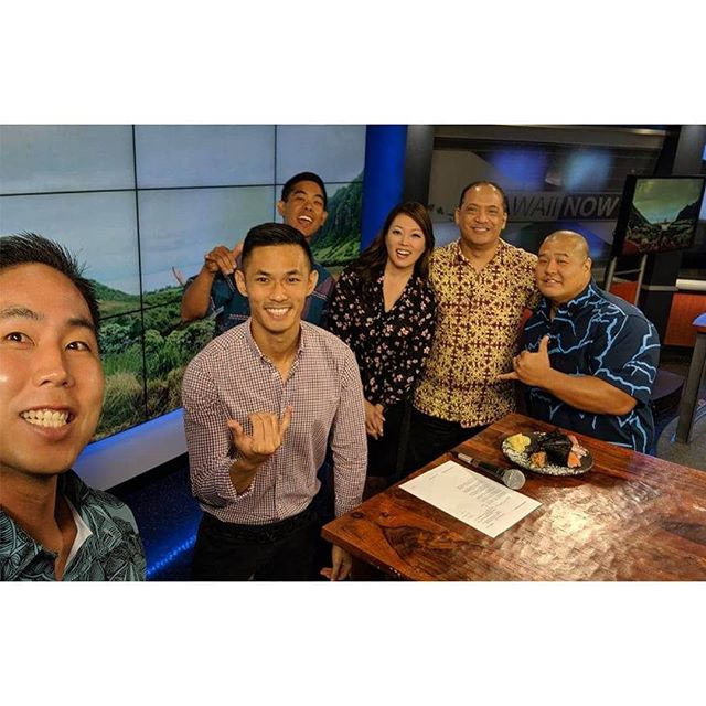 Catch us on HNN Sunrise today? We had a great time set 🌄 Thank you, @graymillie & @billyv808, for having us! It was also great to meet Sunny☀️ Today, Ryan Ko (Shokudo) and Lance Okasaki (K-PAL) joined HPF to speak about 2019 Party 4 A Purpose.  #HonoluluPros #Party4APurpose #HiLife #OahuLife #LiveMusic #Honolulu #HonoluluEvents #Living808 #PomaikaiBallrooms #HHOC #KPAL #ShokudoJapanese #HNNSunrise #HNN