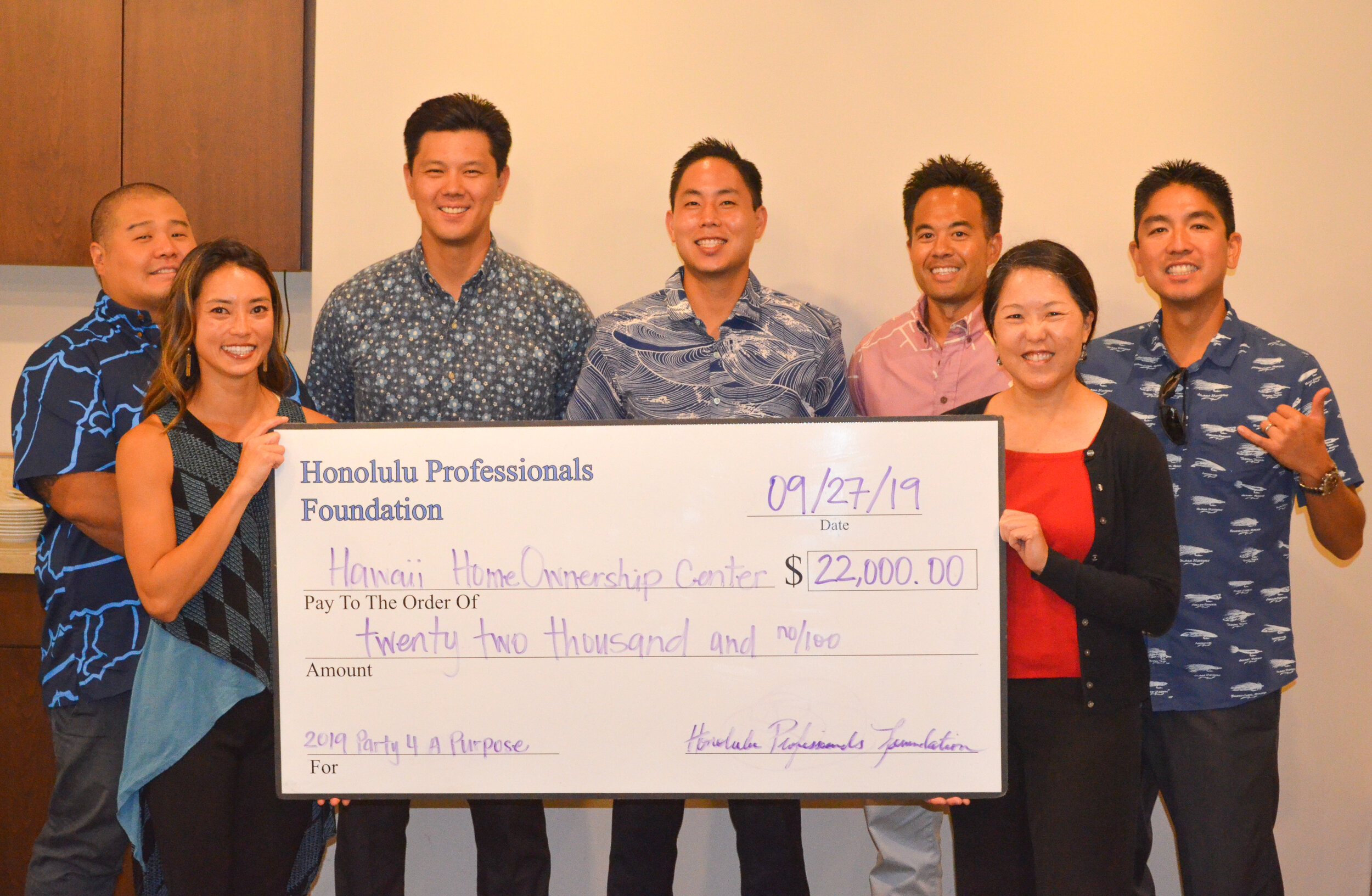 HPF pictured with Reina M. Miyamoto, Executive Director of the Hawaii HomeOwnership Center (HHOC).