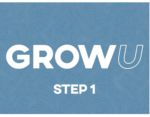 Step 1 - First Sunday - GrowU begins with StepONE. This session is open to anyone who wishes to begin GrowU and gain biblical insights into growing in your faith and what it looks like to know God and be a true follower of Jesus Christ.