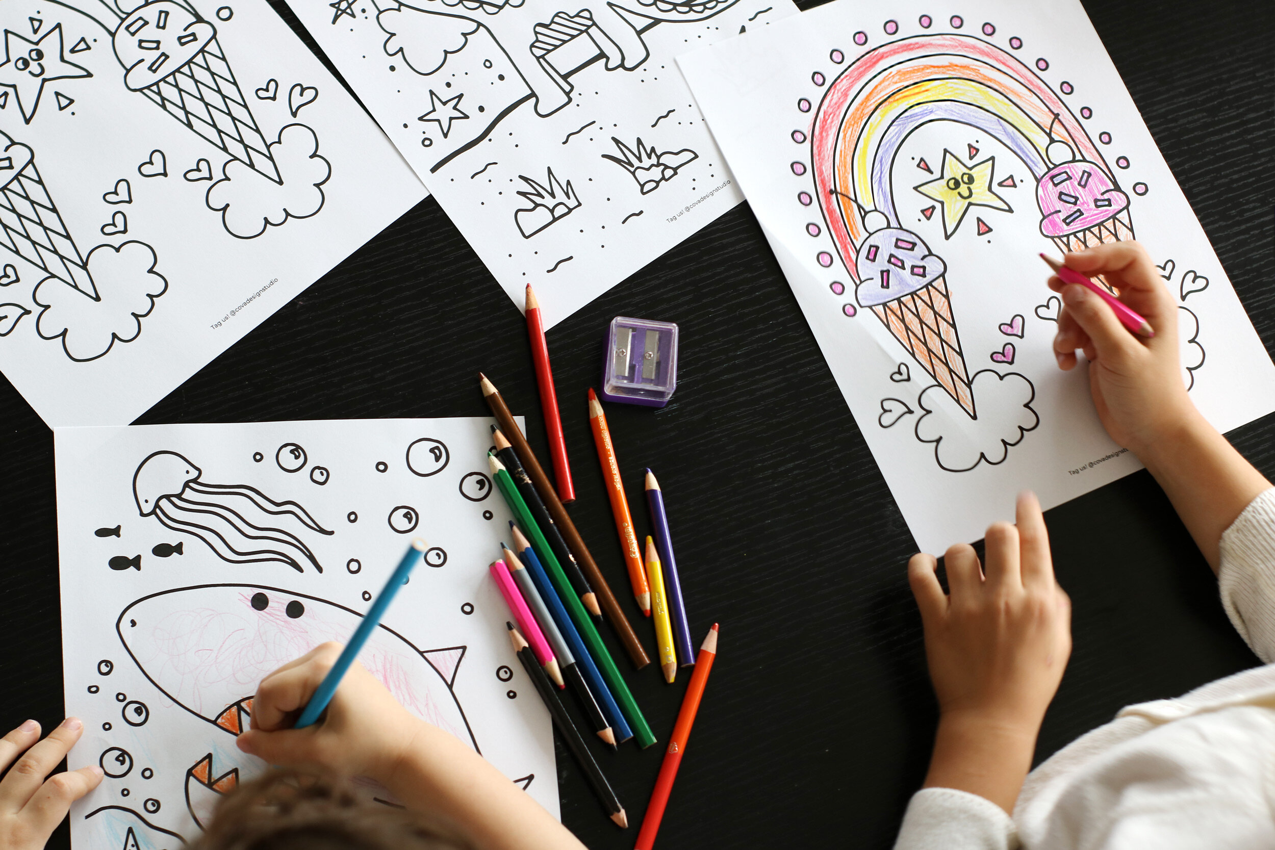FREE Print-at-Home Coloring Pages To Keep Kids Busy — COVA DESIGN