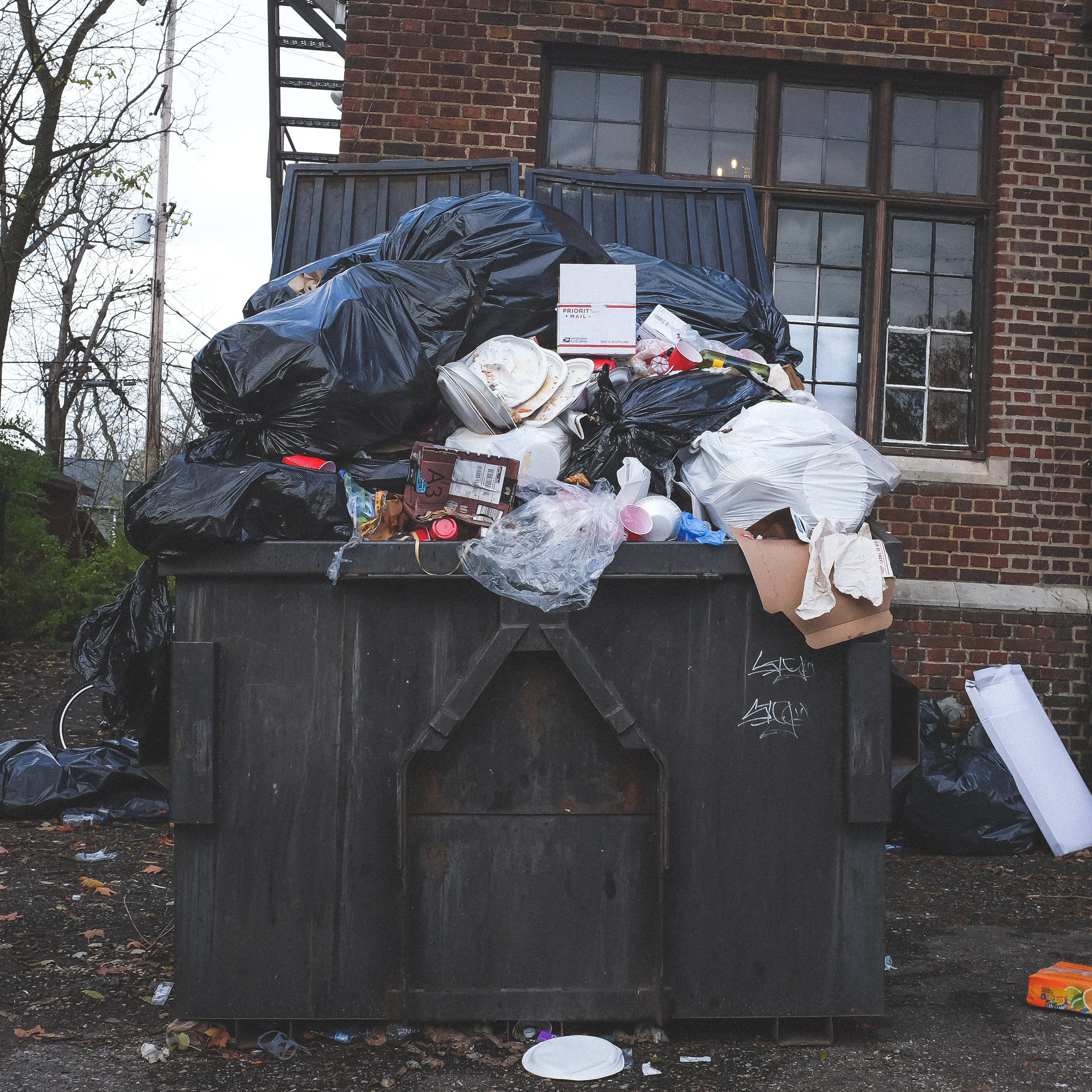 We generate 9+ pounds of trash per person per day. The national average is 7 pounds. -