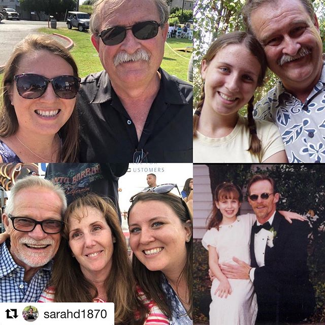 Being a small business owner isn't easy, but looking up to both of my small business owning dads helps 💙 Happy Fathers Day to these two amazing dads and all the other awesome dads out there!  #entrepeneurs #bossdads #bossdaughter #fathersday