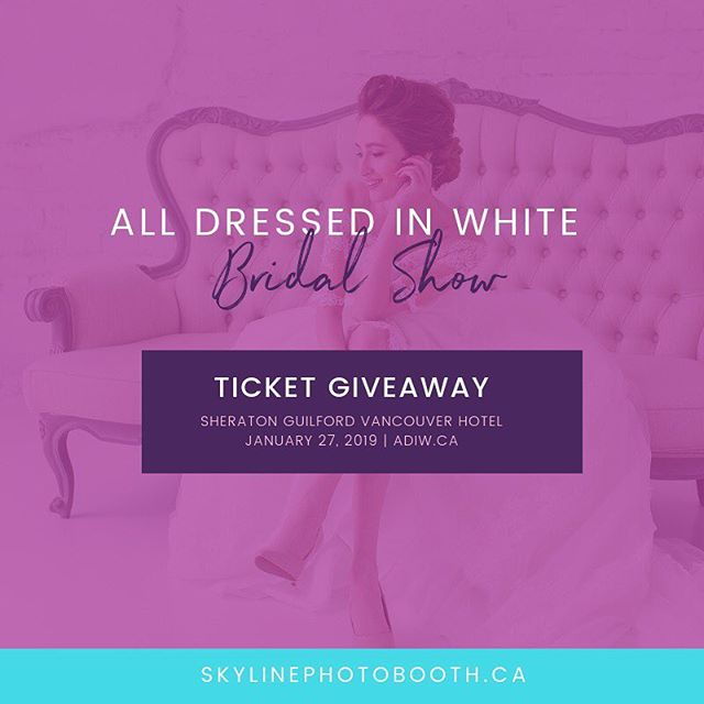 Psst... So we have 10 tickets to give away to 5 lucky couples to the @adiwbridalshow - comment below to enter in the giveaway.