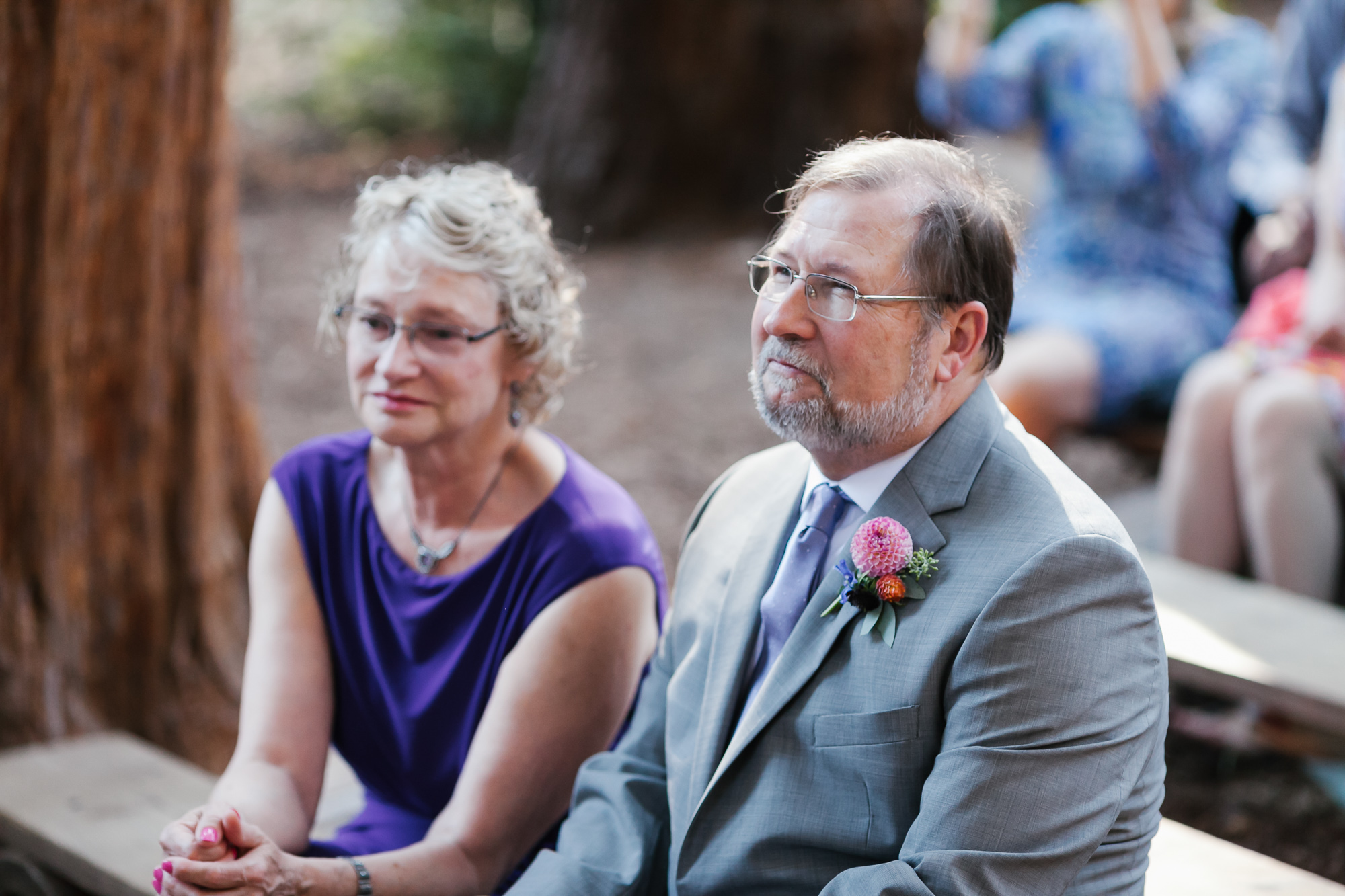 Groom's parents look proud as their son gets married