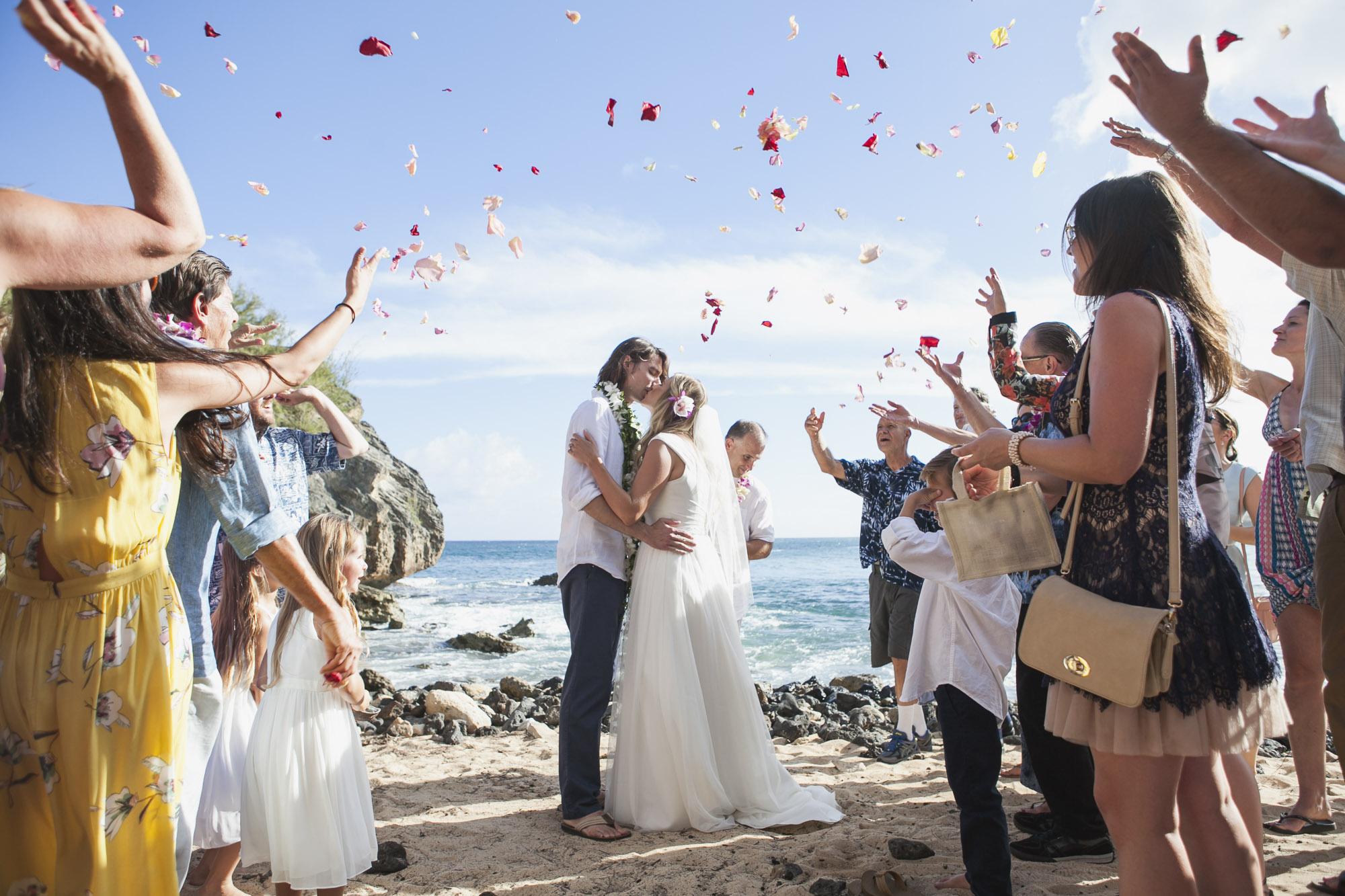 Laid Back Hawaiian Beach Wedding Kauai Ceremony Epic