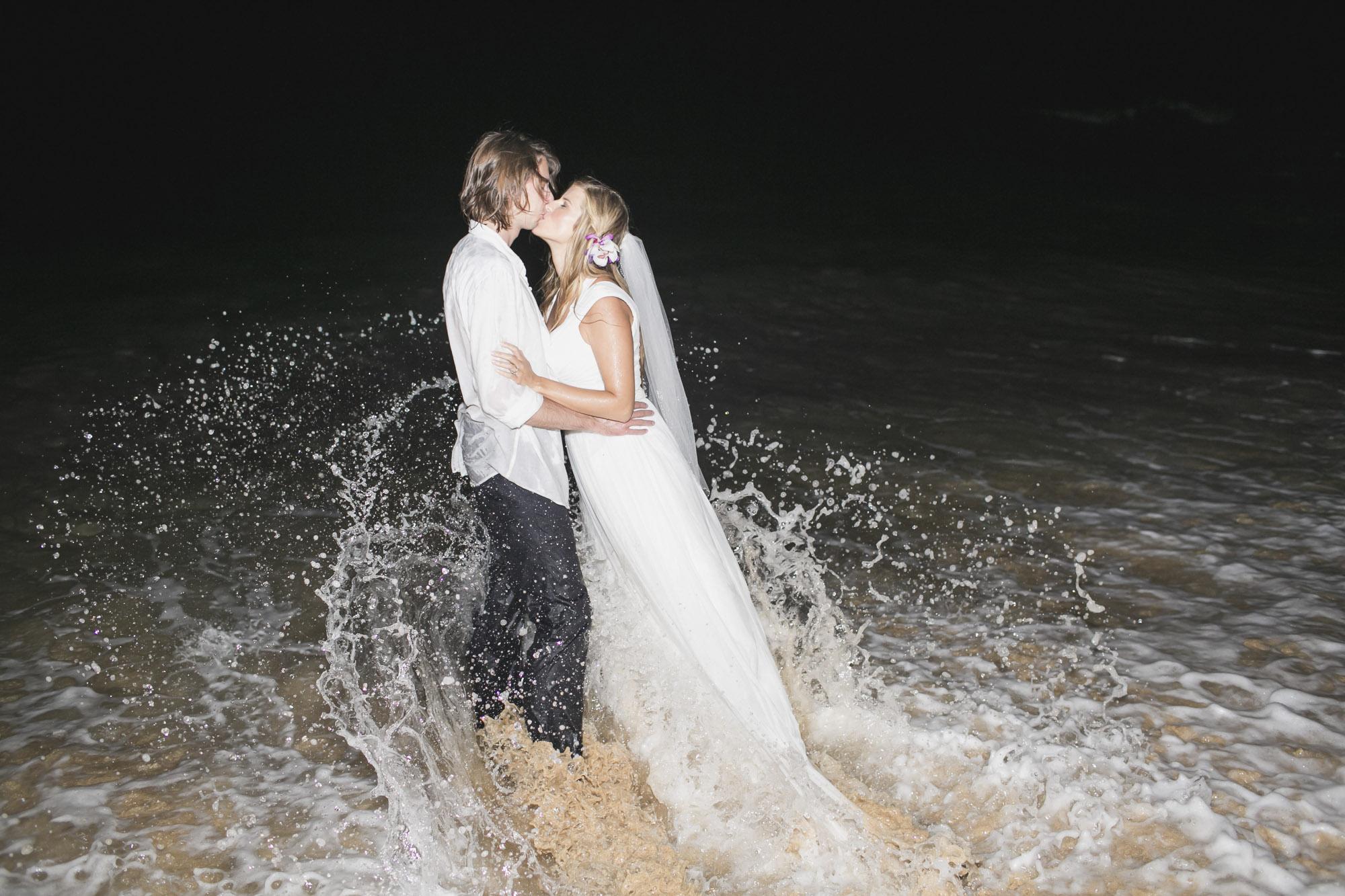 Kauai Beach Wedding Trash the Dress