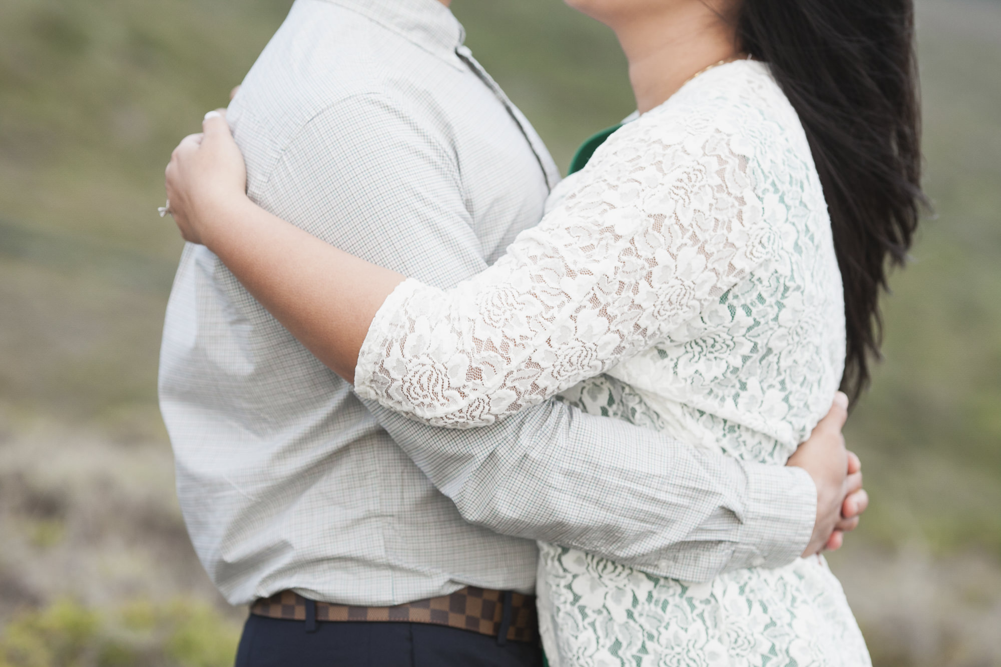 Spring engagement session in the Marin Headlands