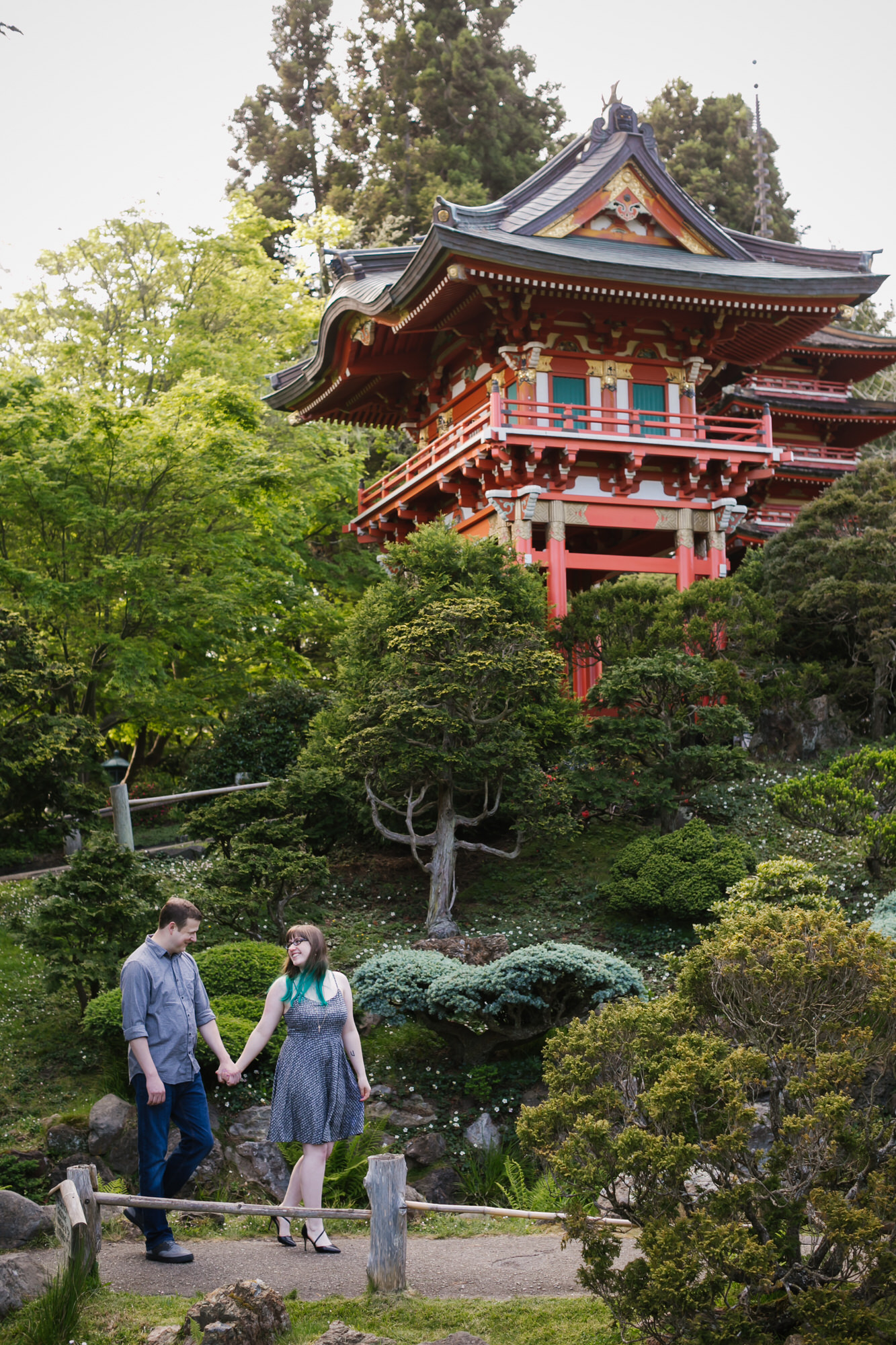 Engagement session at the Japanese Tea Garden in Golden Gate Park, San Francisco