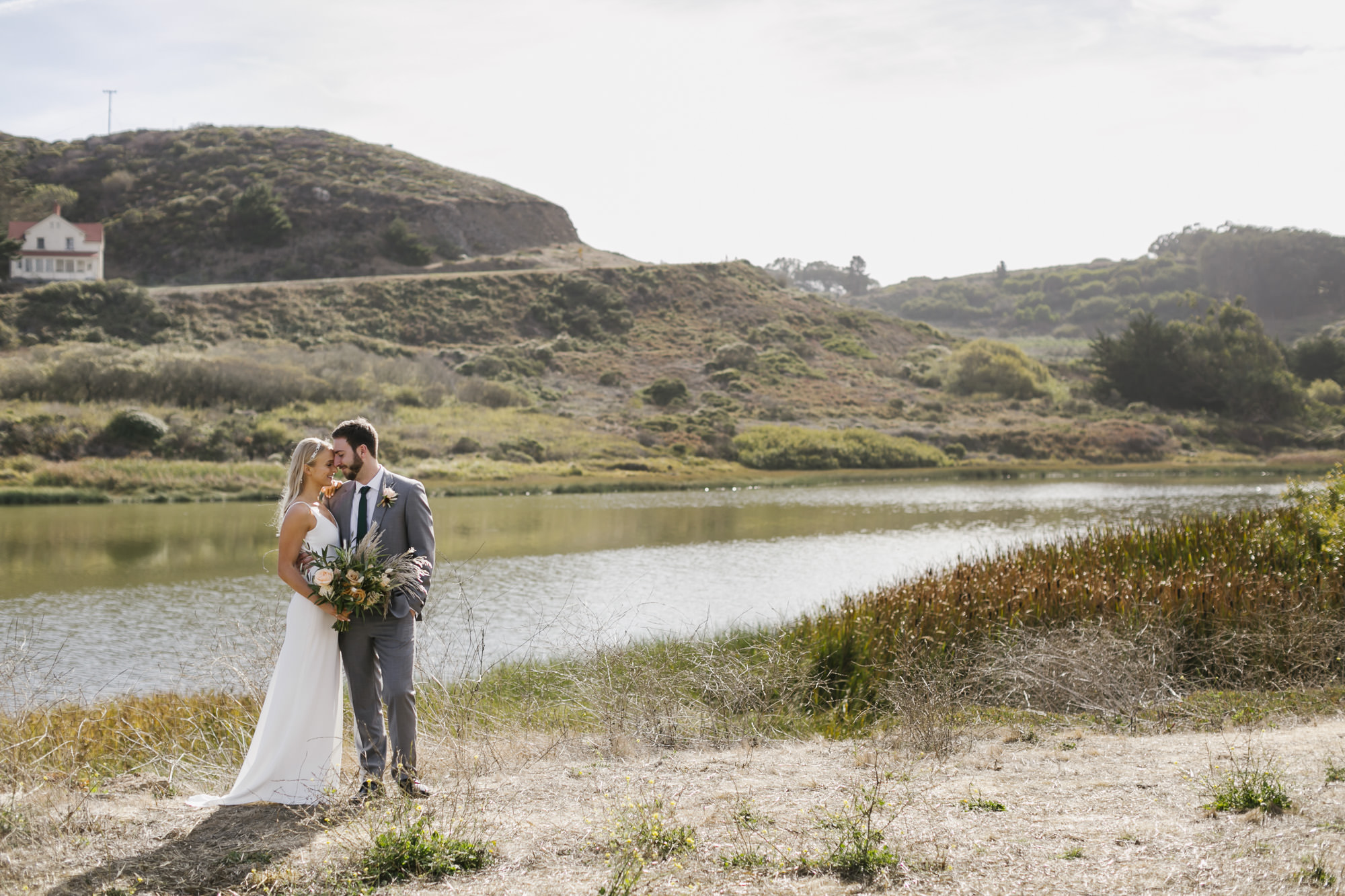 Wedding couple portraits in the Marin Headlands