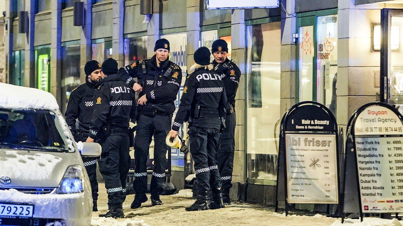 Onsdag la Oslo-politiet fram tall for 2018 som viser at det var 197 gjengangere under 18 år, hvorav 182 i Oslo Bildet er tatt i forbindelse med en knivstikking i Oslo. Foto: Heiko Junge (NTB scanpix)