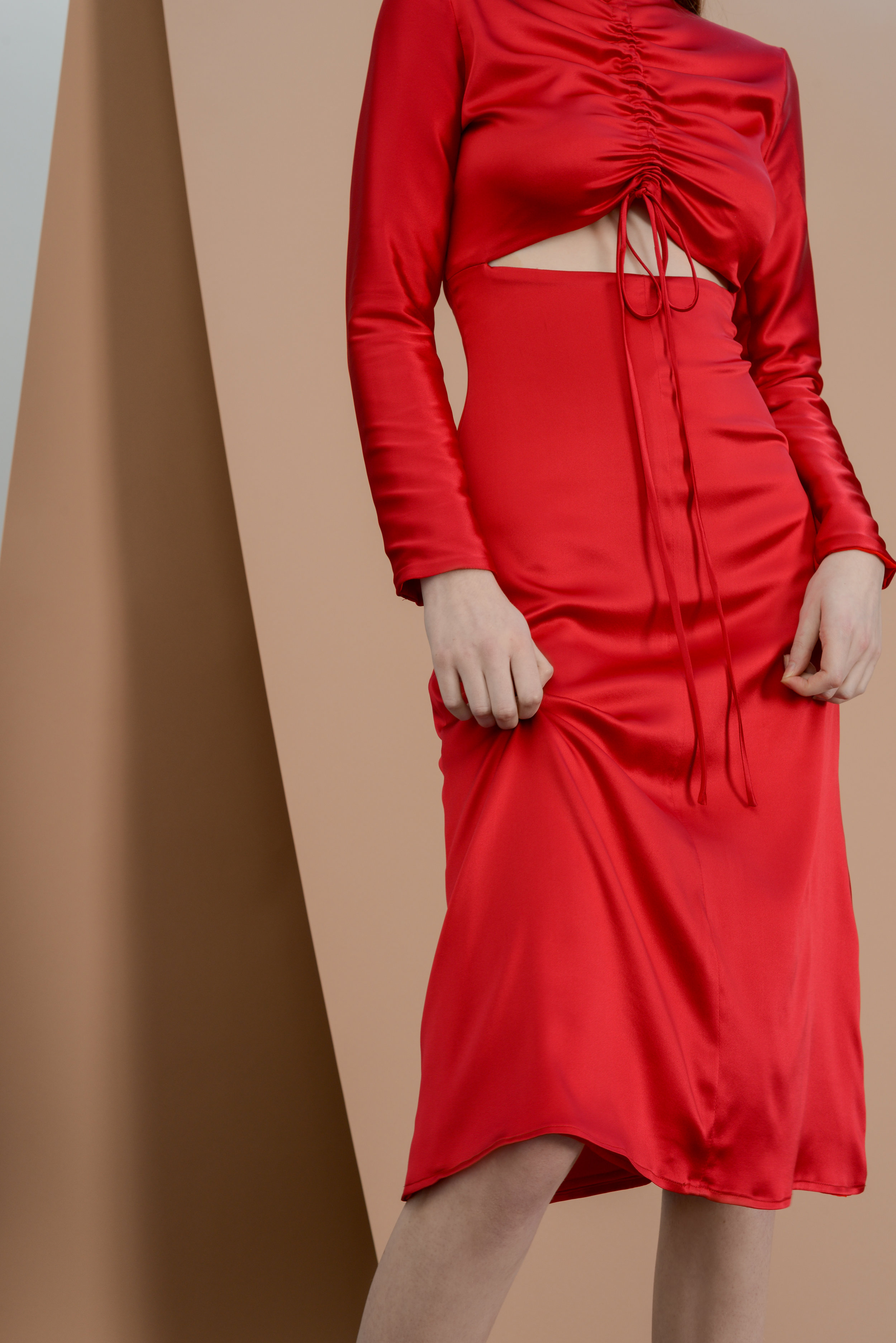 Clell dress - Bixbite red