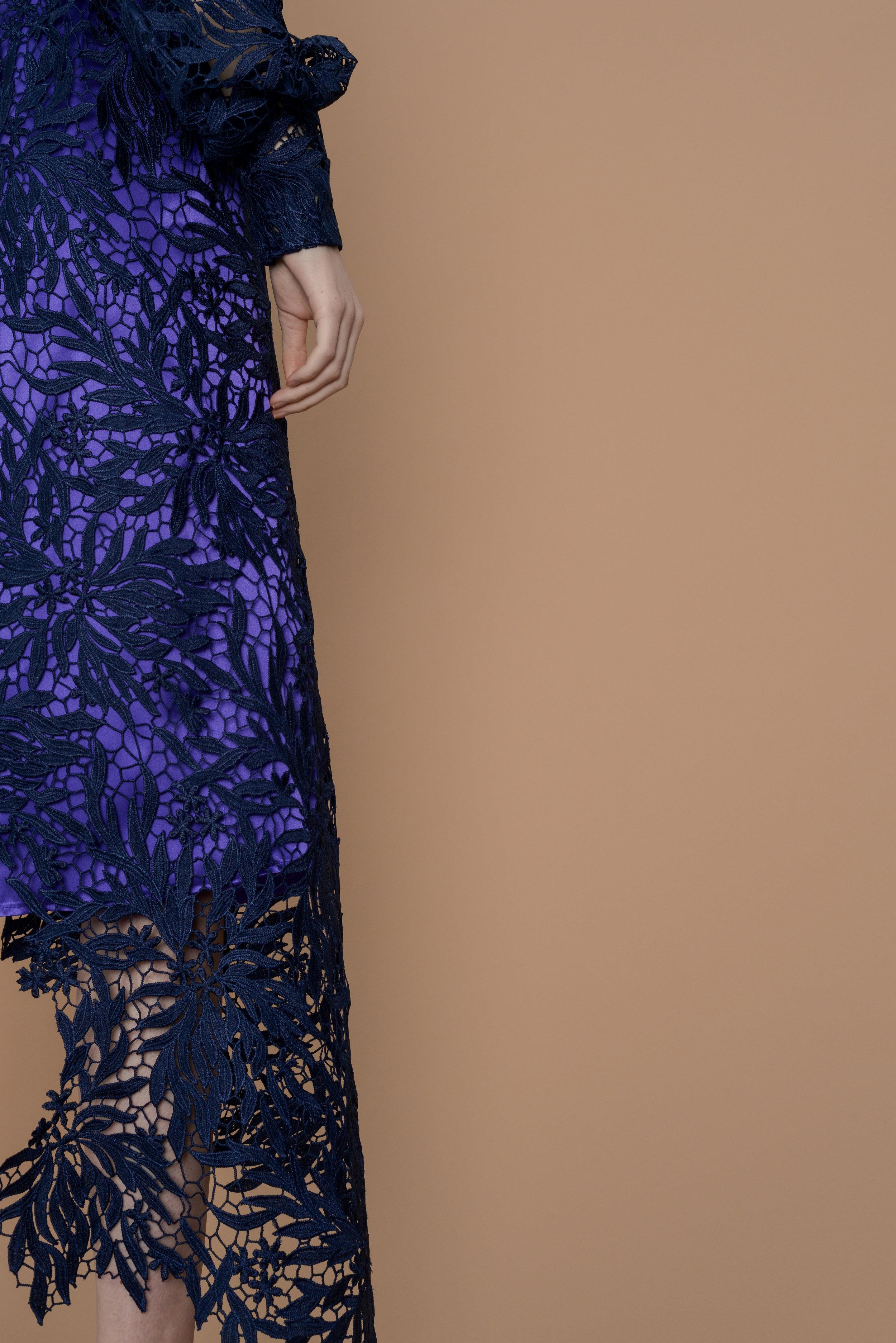 Drust Wrap Dress - Violet satin