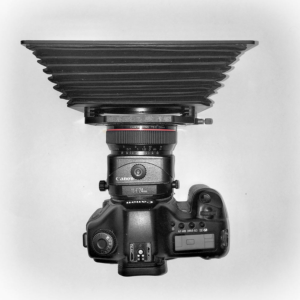 Canon 5D with Canon 24mmTS lens and Lee Filters wide angle hood