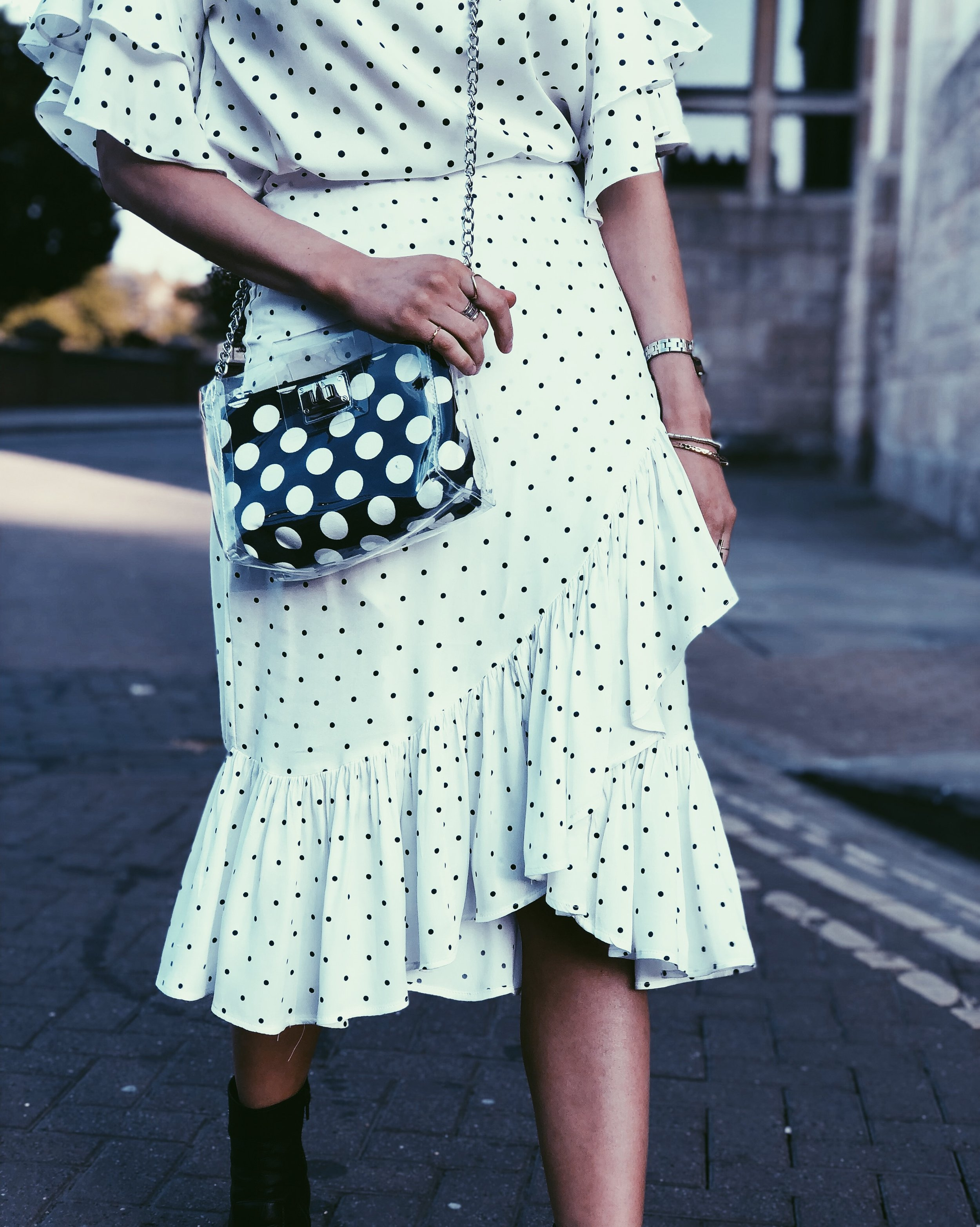 Top and Skirt: H&M, Bag: Primark, Boots: Topshop