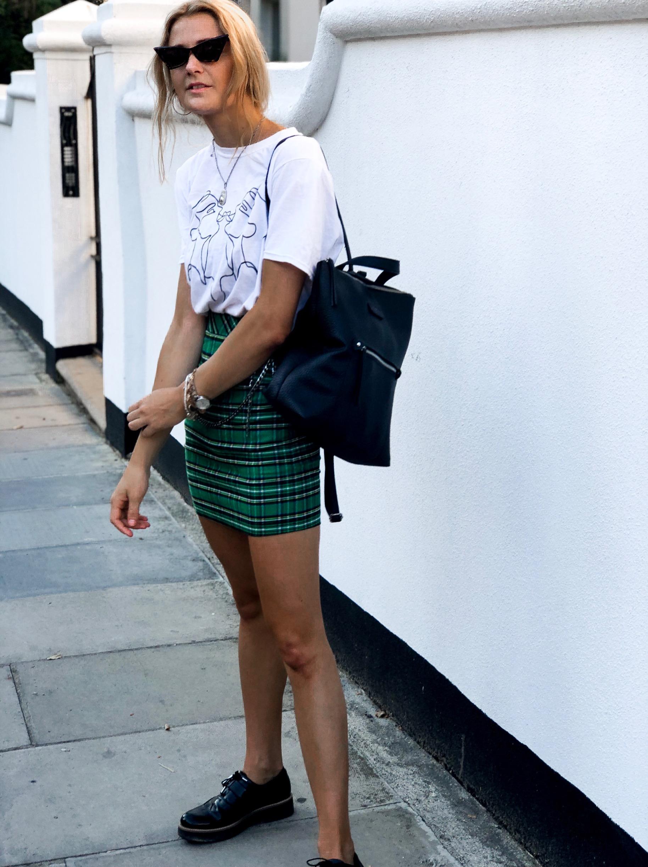 T-Shirt: Nasty Gal, Skirt: Zara, Shoes: Zara