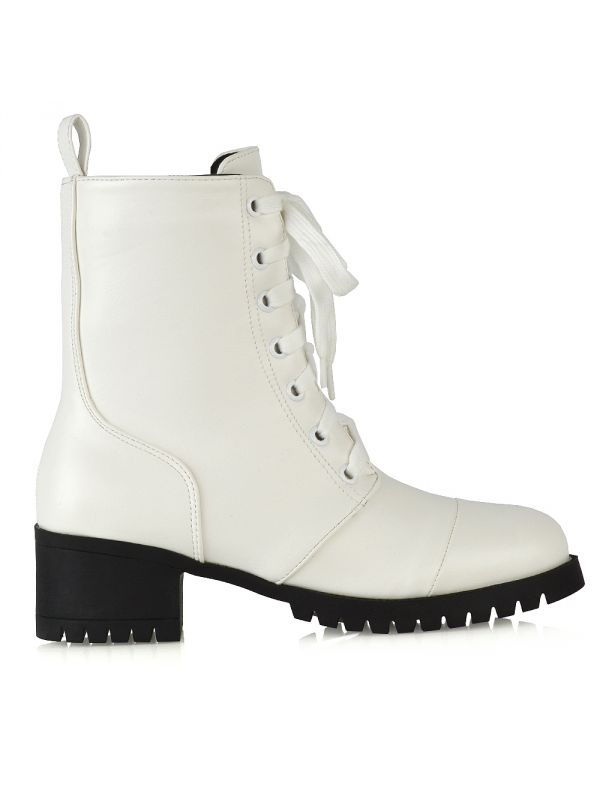 WHITE MILITARY BOOTS £22.99