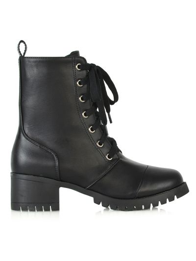BLACK MILITARY BOOTS £22.99