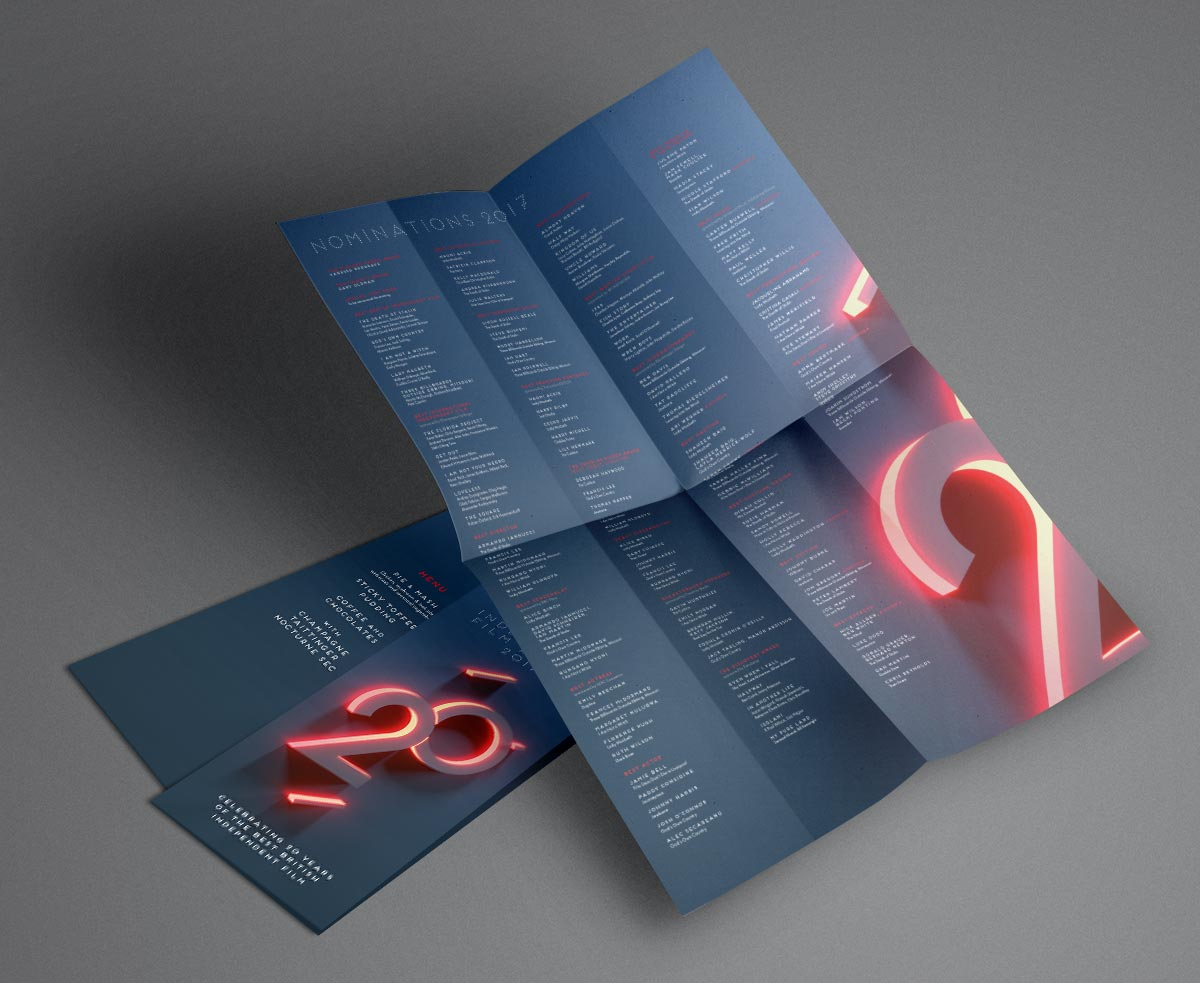 Programme / Branding / Print /Event / Awards / BIFA