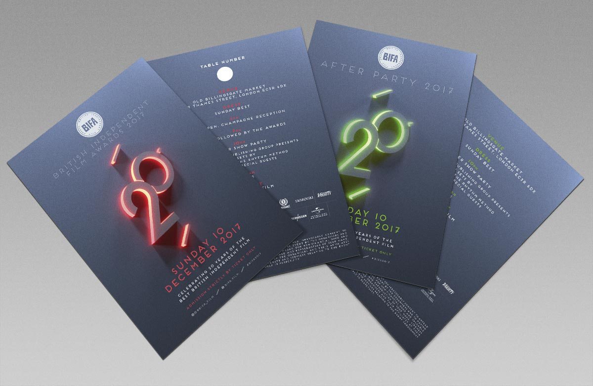 Tickets / Branding / Print /Event / Awards / BIFA