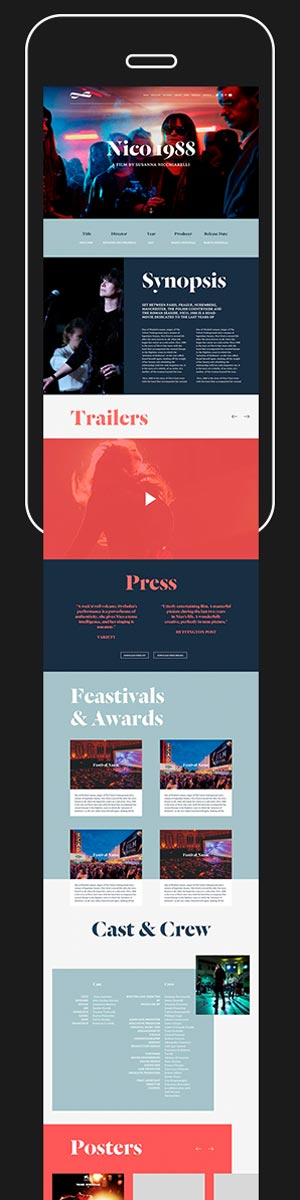 Mobile Site / Online / Digital / Branding / Celluloid Dreams
