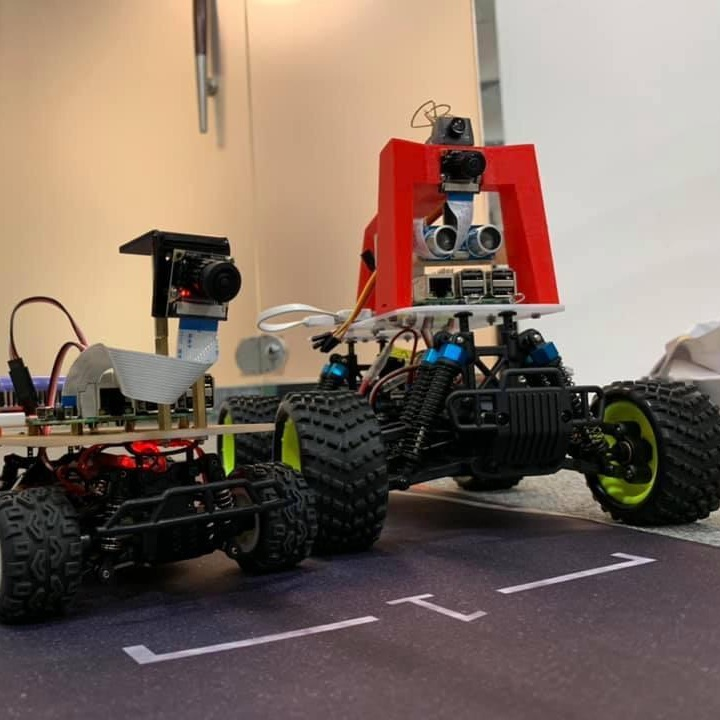 Donkeycar - A Machine Learning Self-Driving Toy Car   Dip your toes into the world of self-driving technology: these autonomous RC cars find their own paths as they race around the track at Inno Fair.