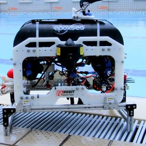 Champion Underwater ROV by HKUST   Hong Kong University of Science and Technology's Robotics Team demonstrate their Champion Underwater ROV with Robot Operation System (ROS)