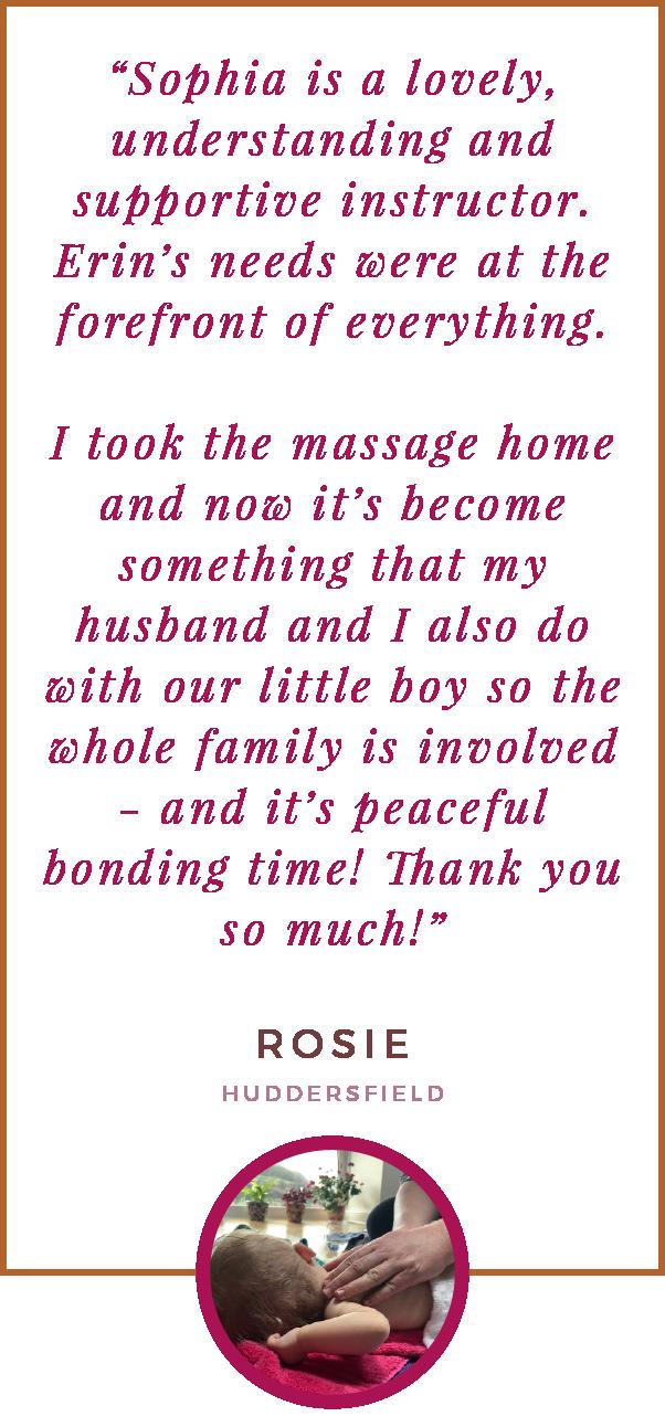 Baby Massage testimonial