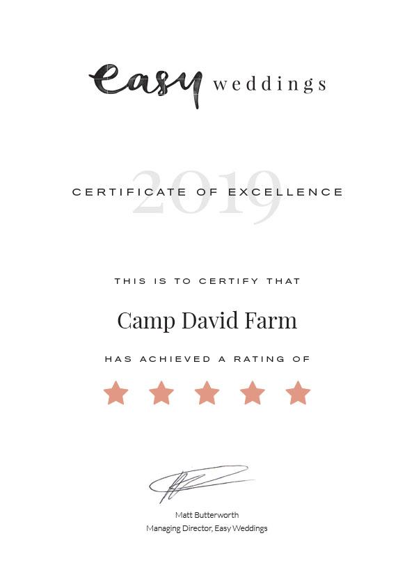 Easy Wedding Camp David Farm 5 Star Award 2019.jpg