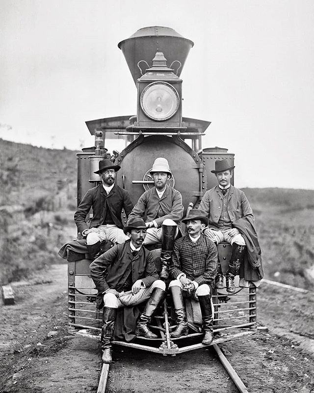 Squad goals. 💯 Brazilian Minas and Rio Railroad engineers. Marc Ferrez, 1880.