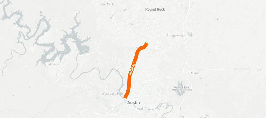 Points are earned today on  Mopac Expressway  at peak travel times (6 a.m. to 10 a.m; 4 p.m. to 8 p.m.)