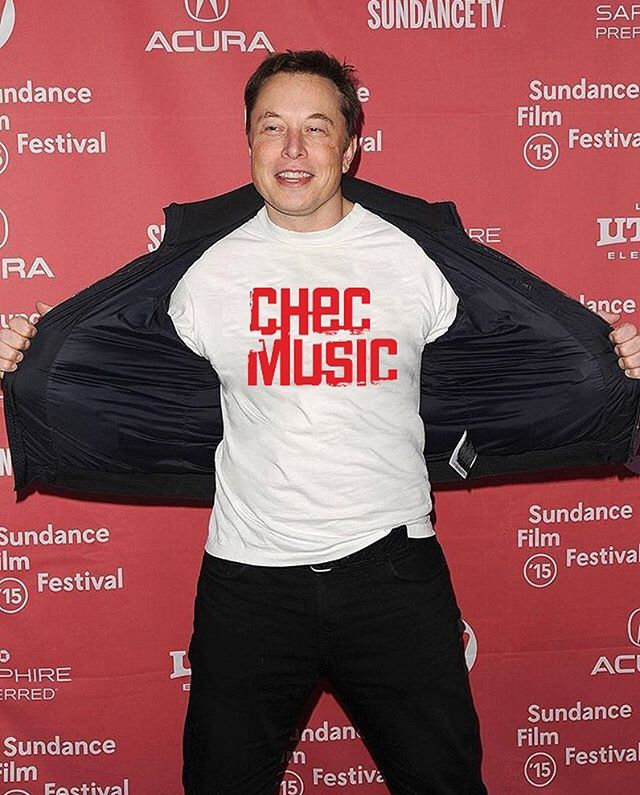 Thanks Elon ! Electric cars love electronic music ! #checmusic #tesla #elonmusk