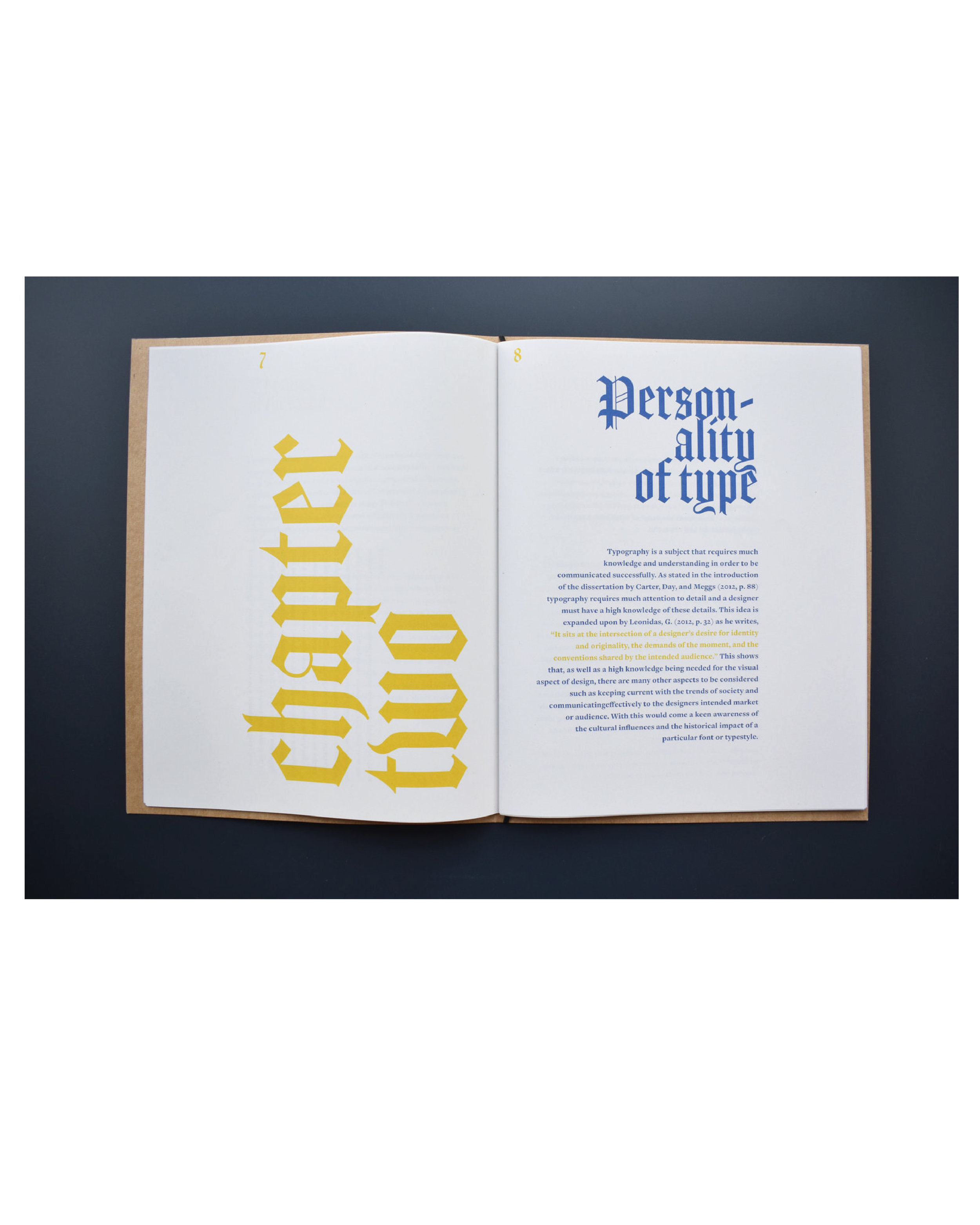 Publication Design About The Contextual Influence of Typography