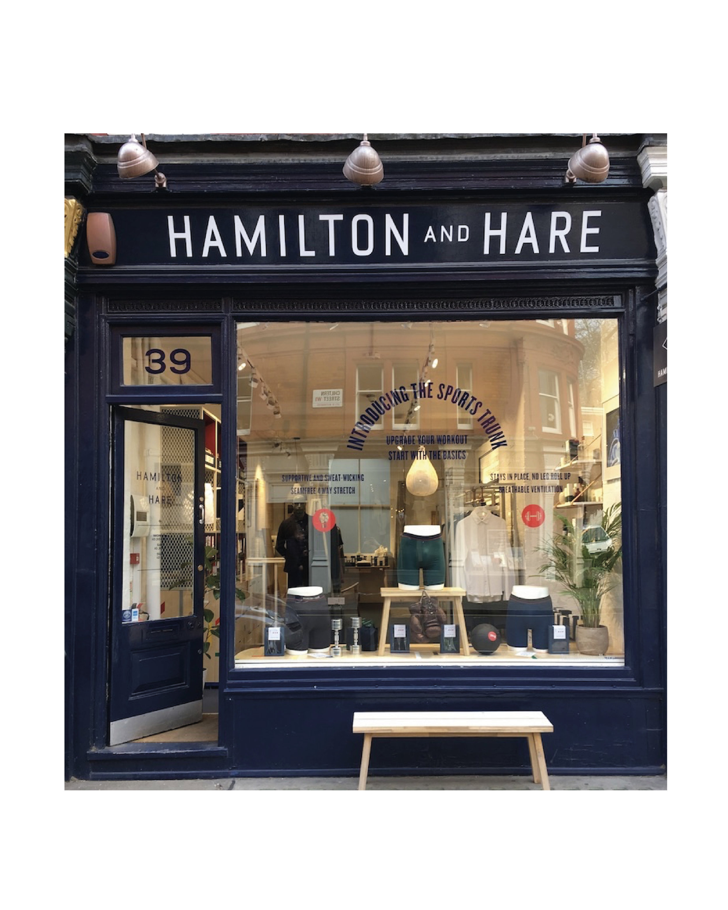 Shop Window Display For Hamilton and Hare