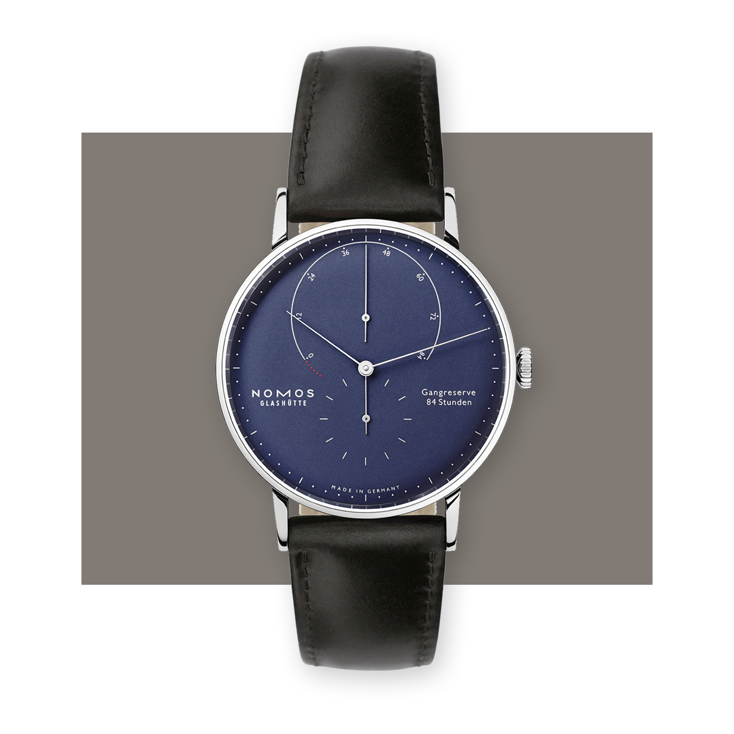 NOMOS GLASHUETTE  Lambda White Gold Deep Blue 935, $20,000