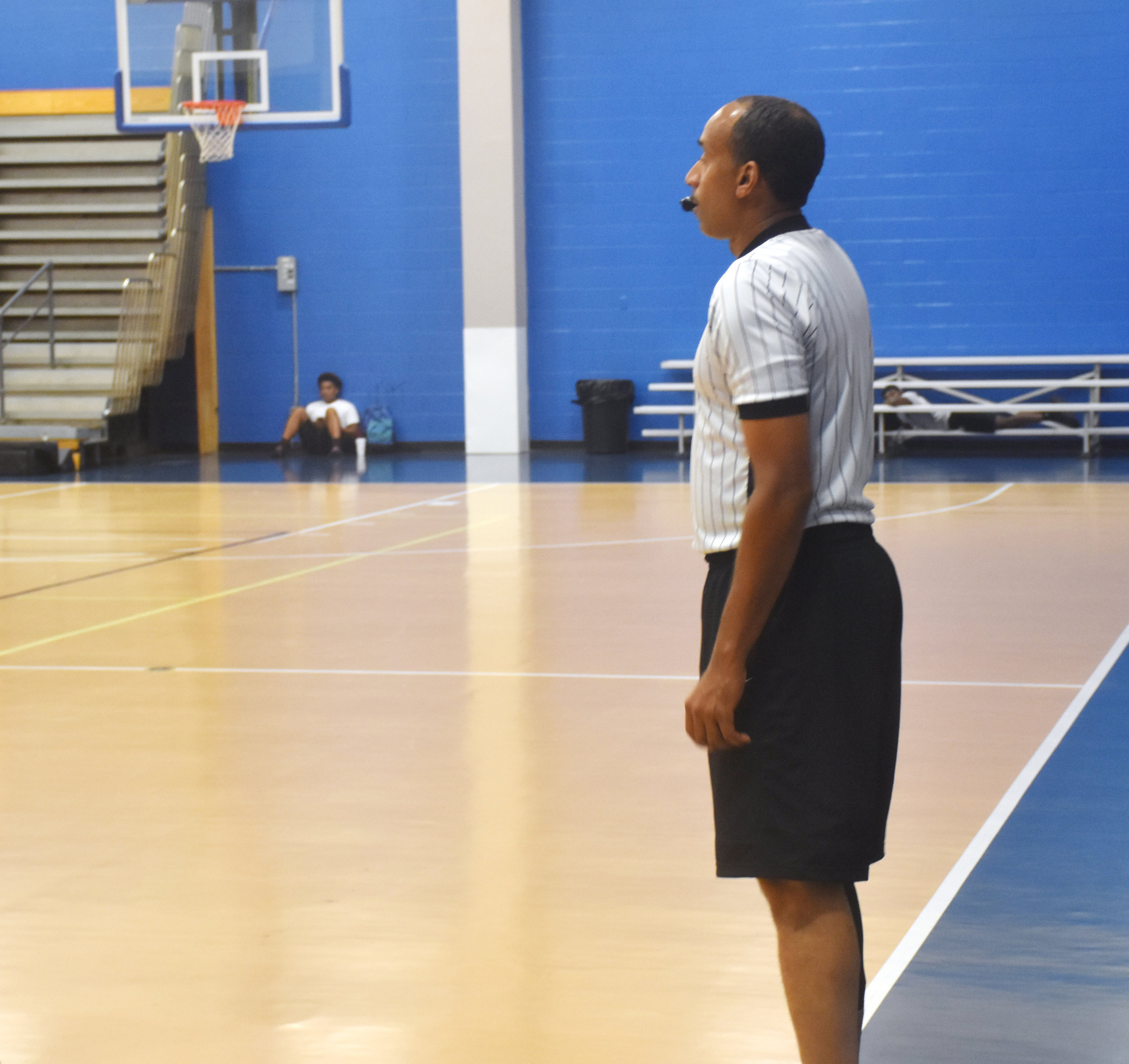 Leo Lockhart, a Kinston native, was a referee at last week's East Coast Invitational. Lockhart is also a longtime college referee. Photo by Bryan Hanks / Neuse News