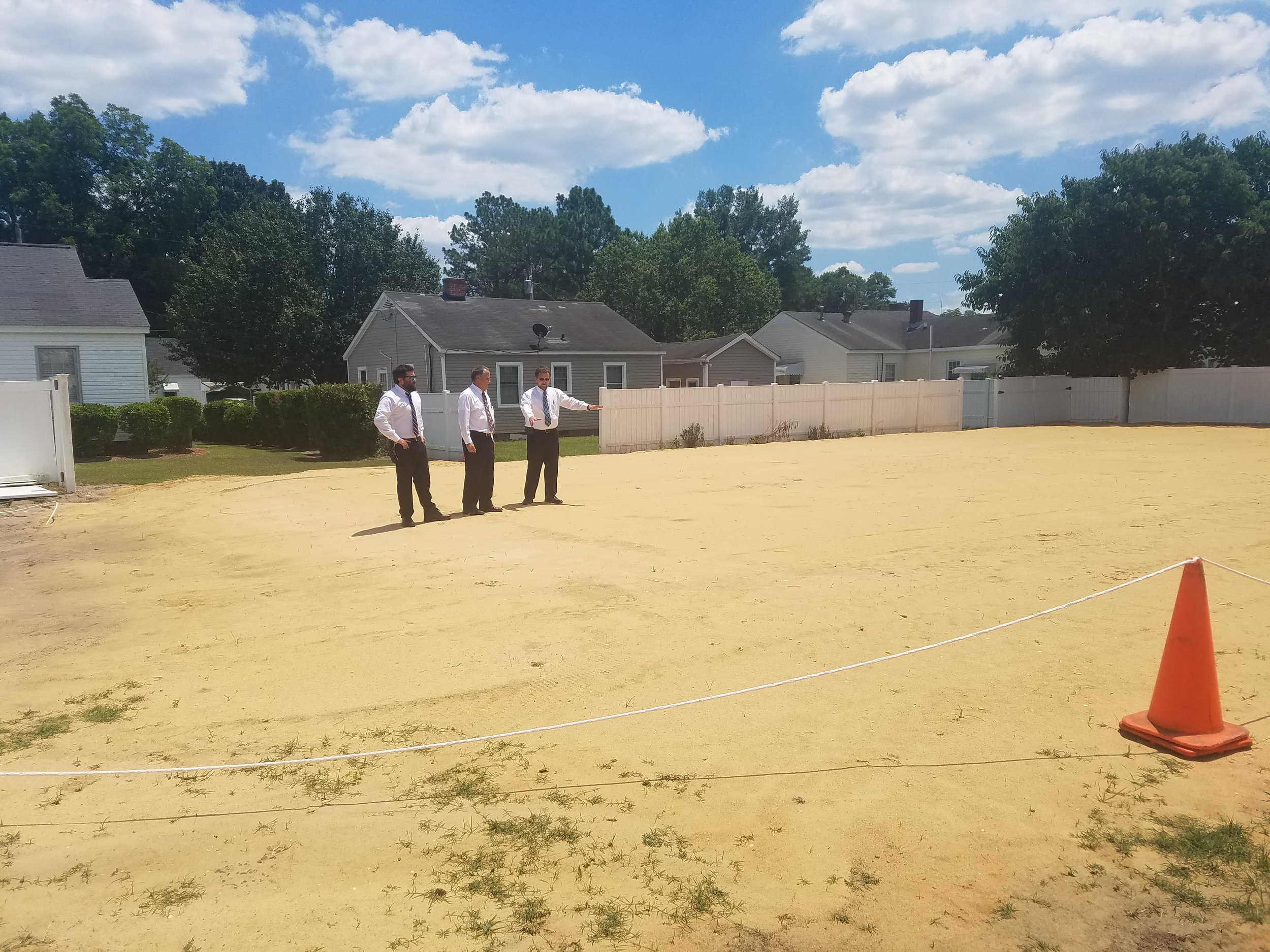 The Taylor's check out the site of the soon-to-be-built crematorium. Photo by Michelle Taylor / Neuse News