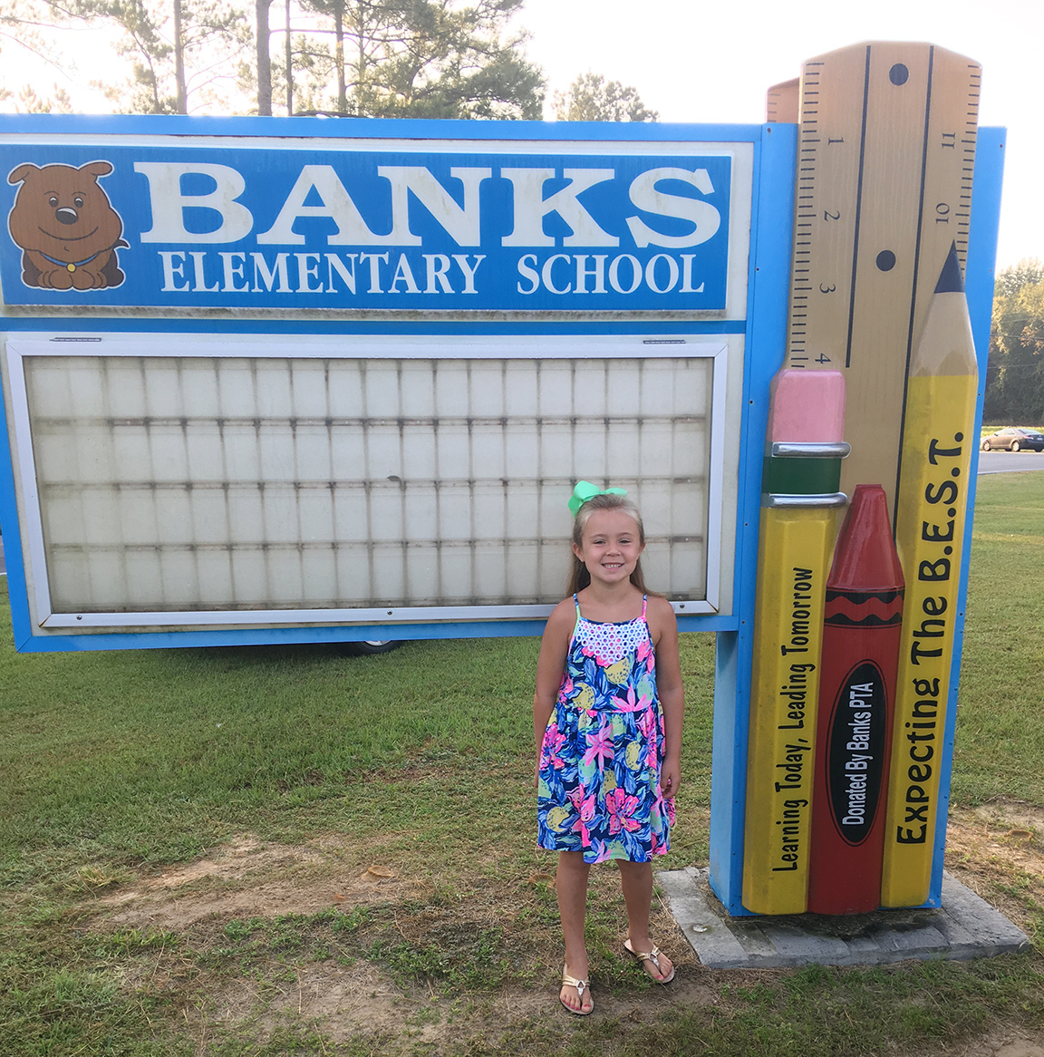 Madelyn Howard, first grade, Banks Elementary School
