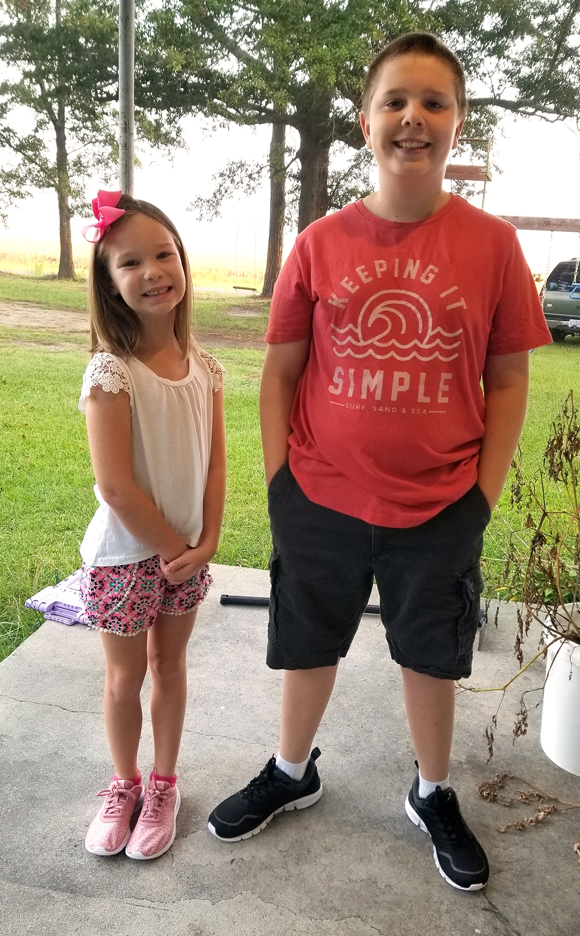 Caitlyn Mayo, left, first grade, Southwood Elementary; Nicholas Mayo, sixth grade, Woodington Middle School
