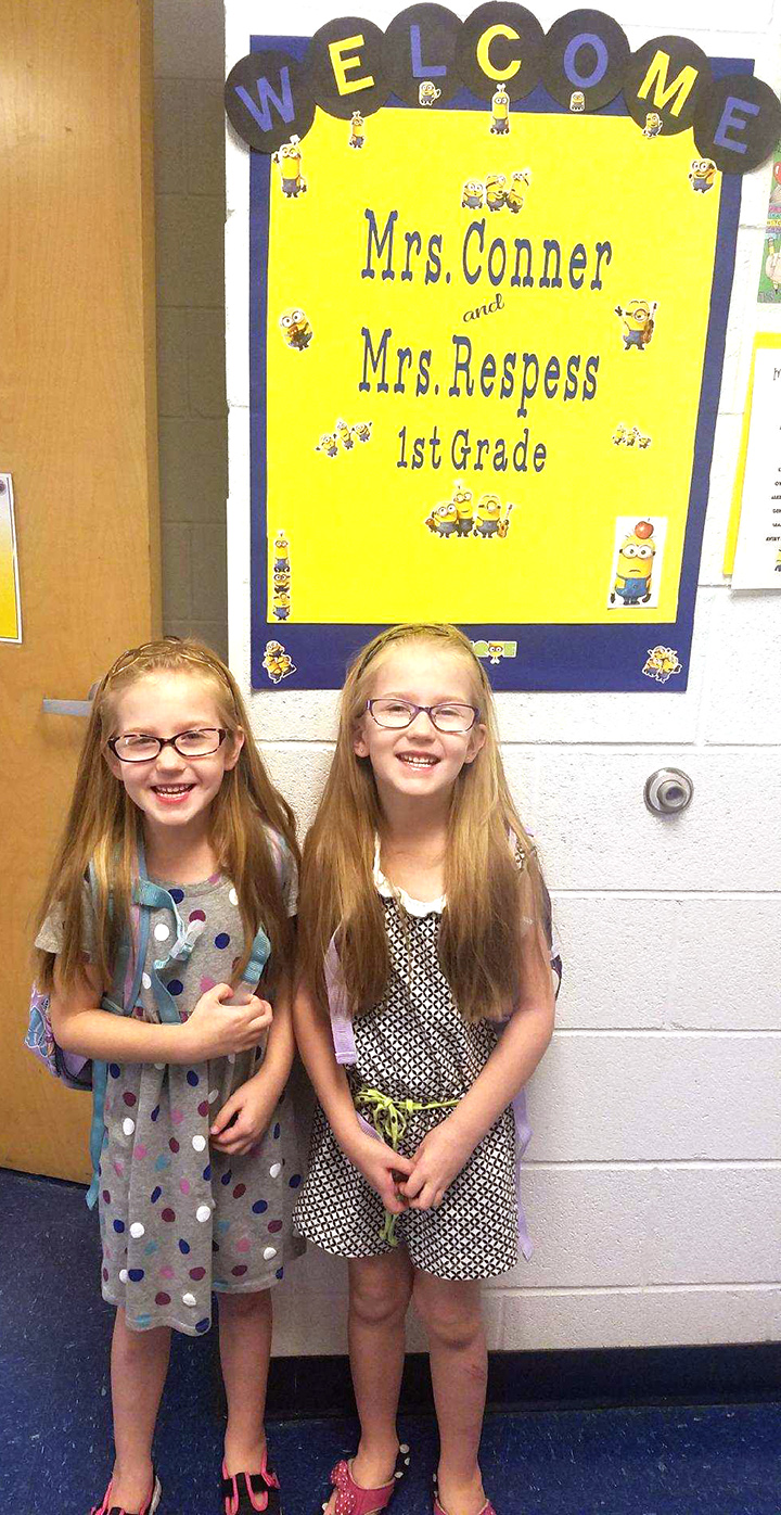 Kayla and Keely Wilson, first grade, Banks Elementary School