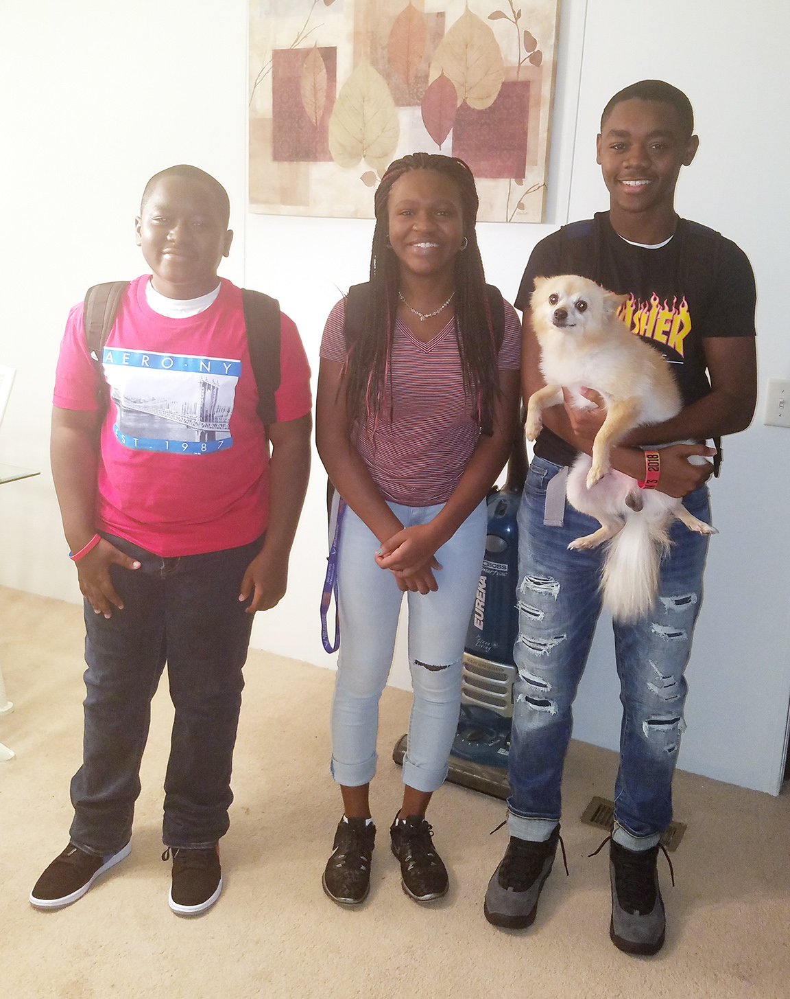 From left, Izayah Williams, freshman, South Lenoir High School; Clarissa Hardy, freshman, South Lenoir; Ty'Ron Williams, junior, South Lenoir