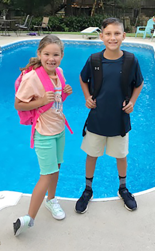 Ashlyn Jacobs, left, first grade, Banks Elementary School; Cayden Jacobs, fourth grade, Banks